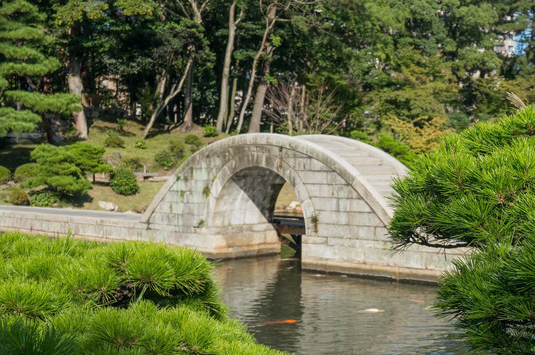 Japanischer Wandelgarten Shukkei-en in Hiroshima, Japan