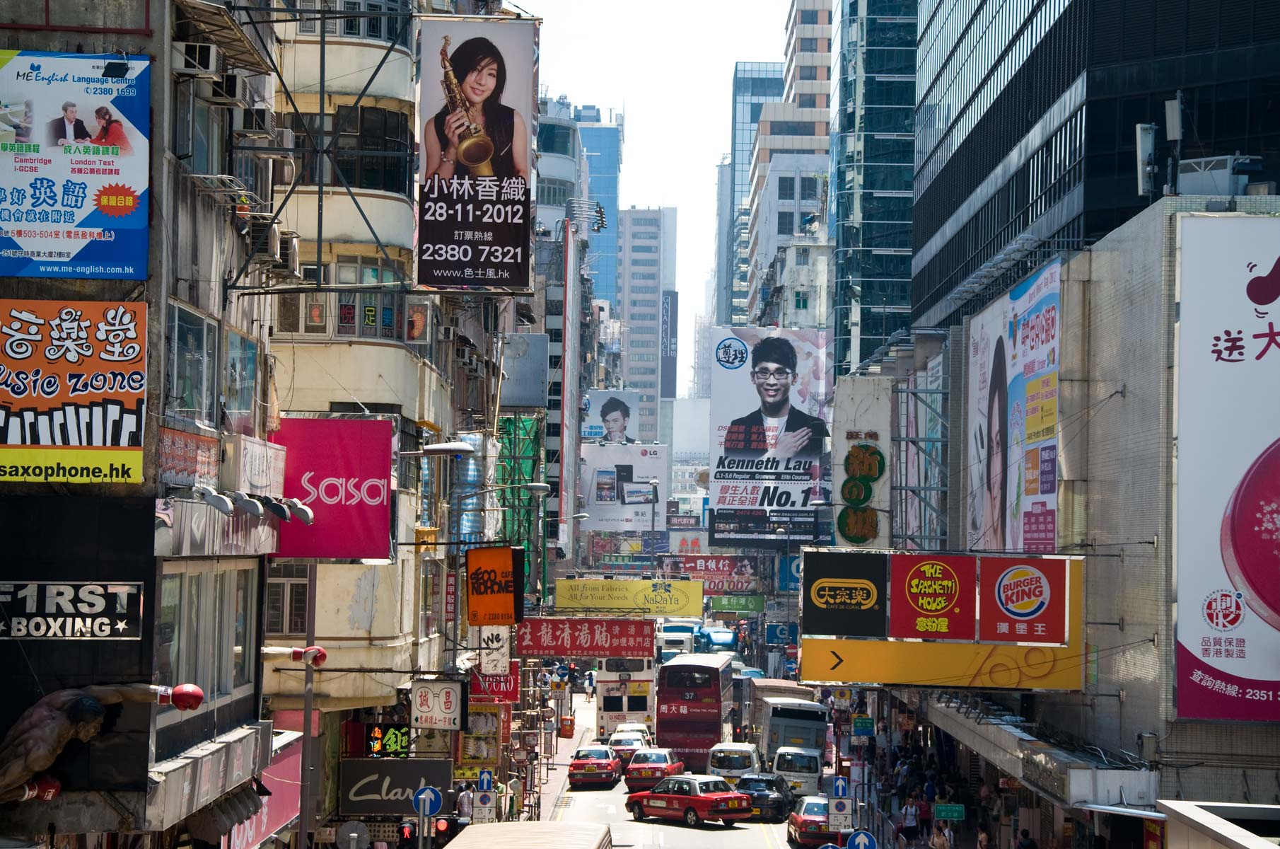 Mongkok in Hongkong, China