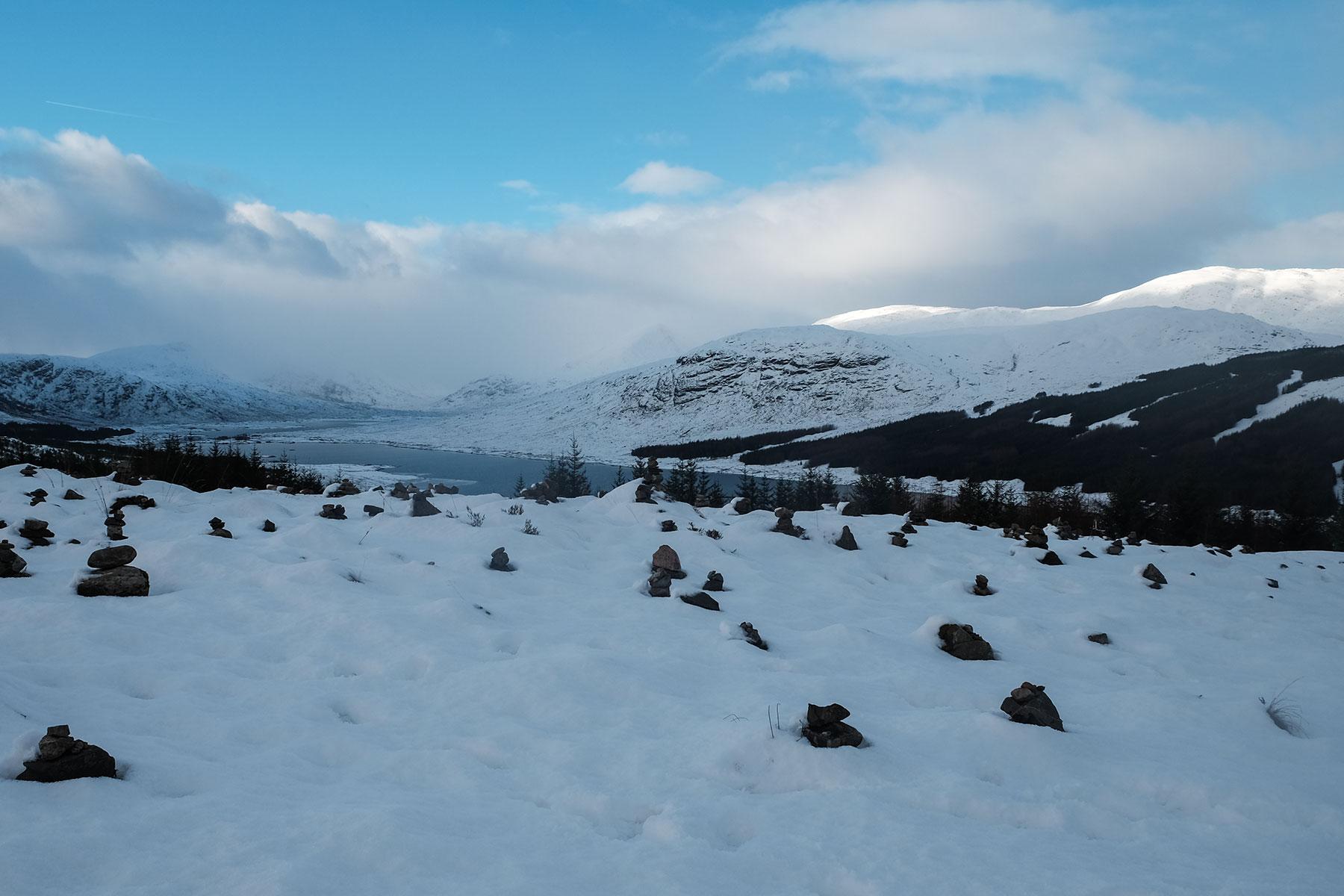 Winterlandschaft in Schottland