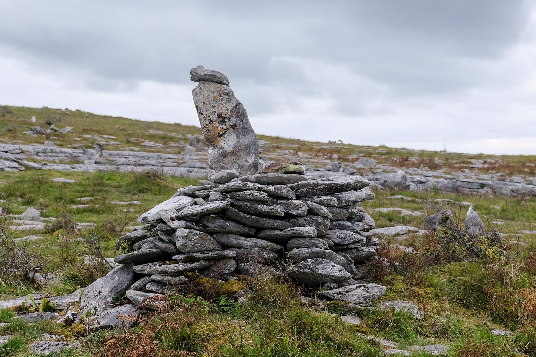 Religiöse Steinhaufen im Burren Nationalpark