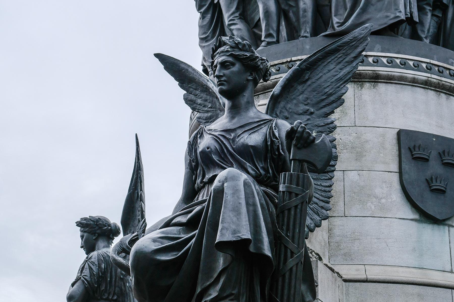 O'Connell Denkmal mit Einschusslöchern aus dem 1916'er Aufstand