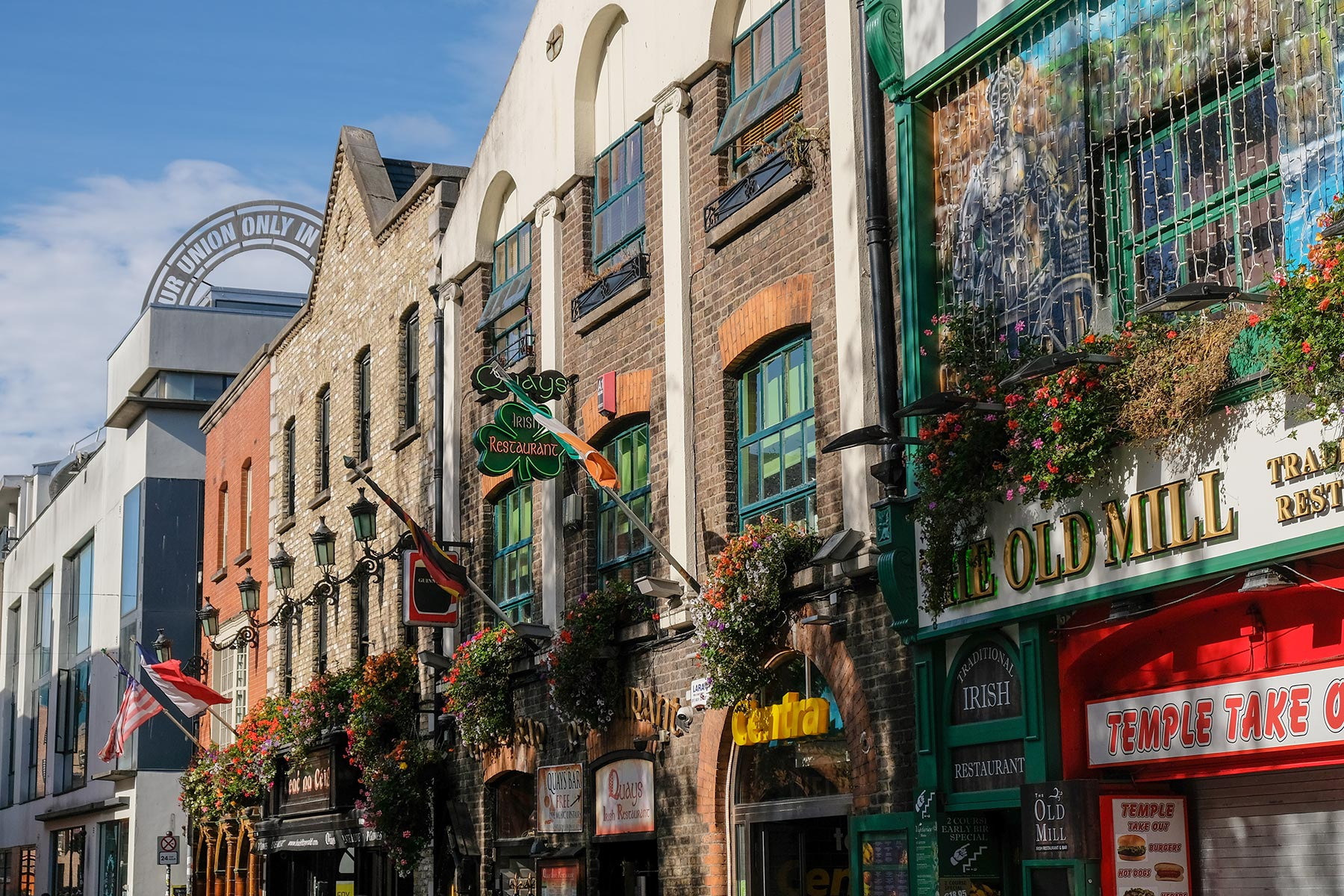 Temple Bar Straße in Dublin