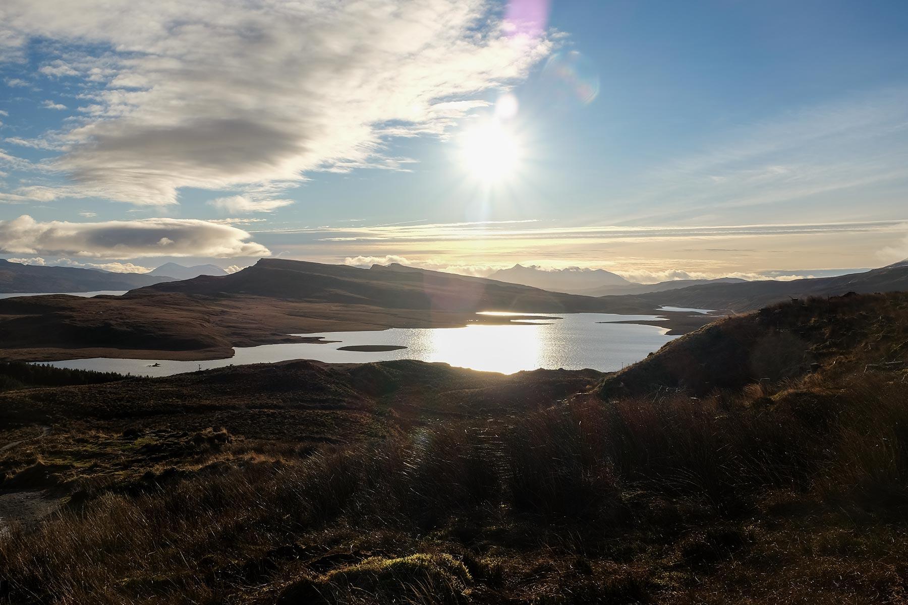 Blick vom Old Man of Storr auf der Isle of Skye, Schottland