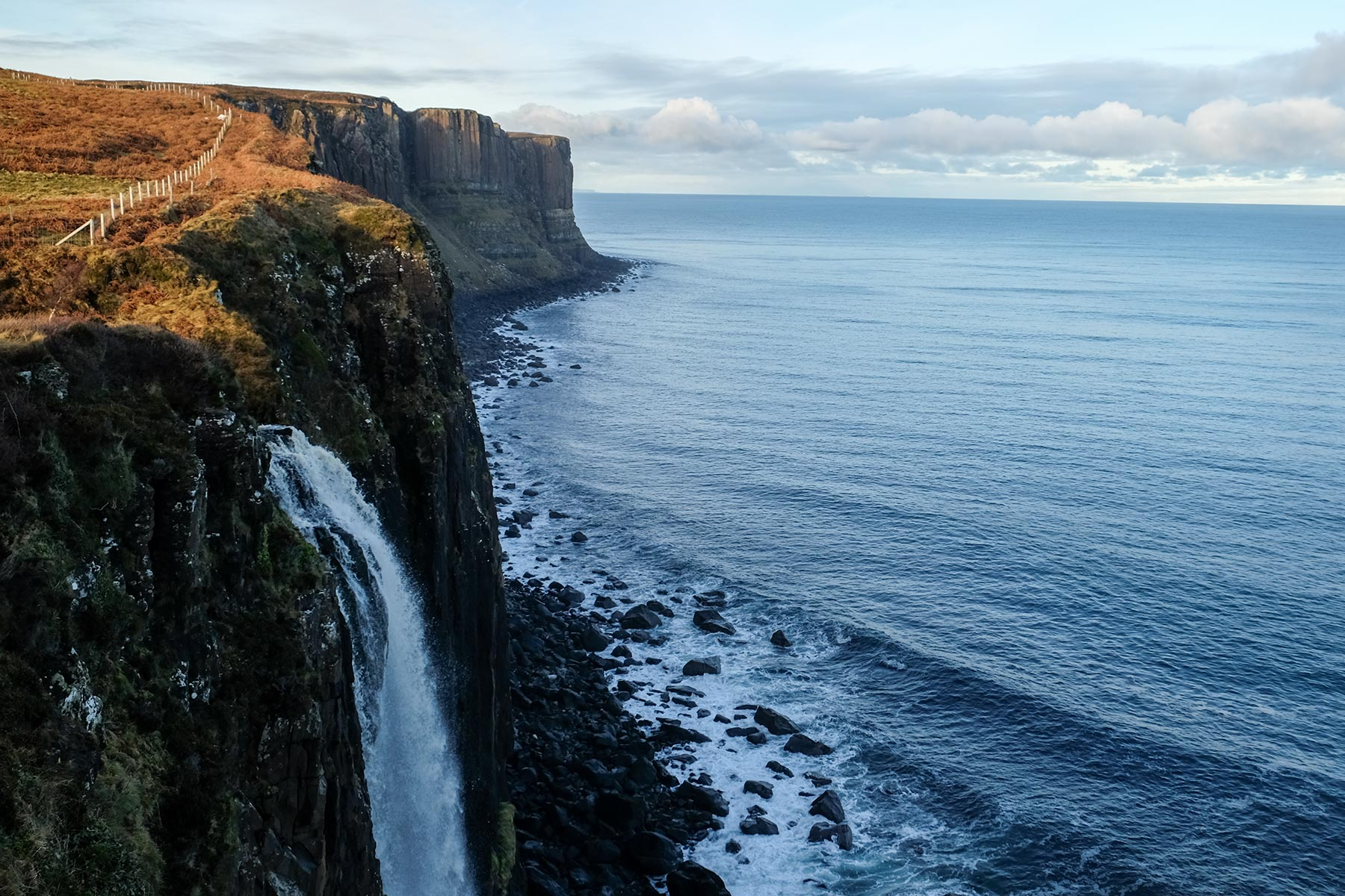 Kilt Rock Aussichtspunkt auf der Isle of Skye, Schottland