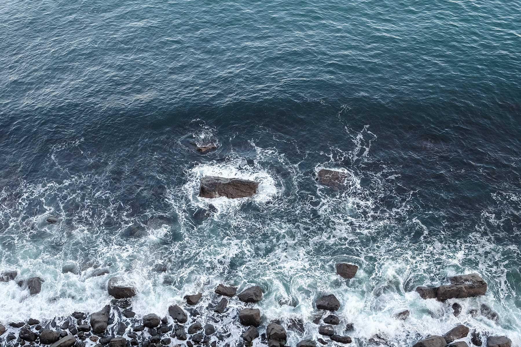 Blick vom Kilt Rock Aussichtspunkt auf der Isle of Skye, Schottland