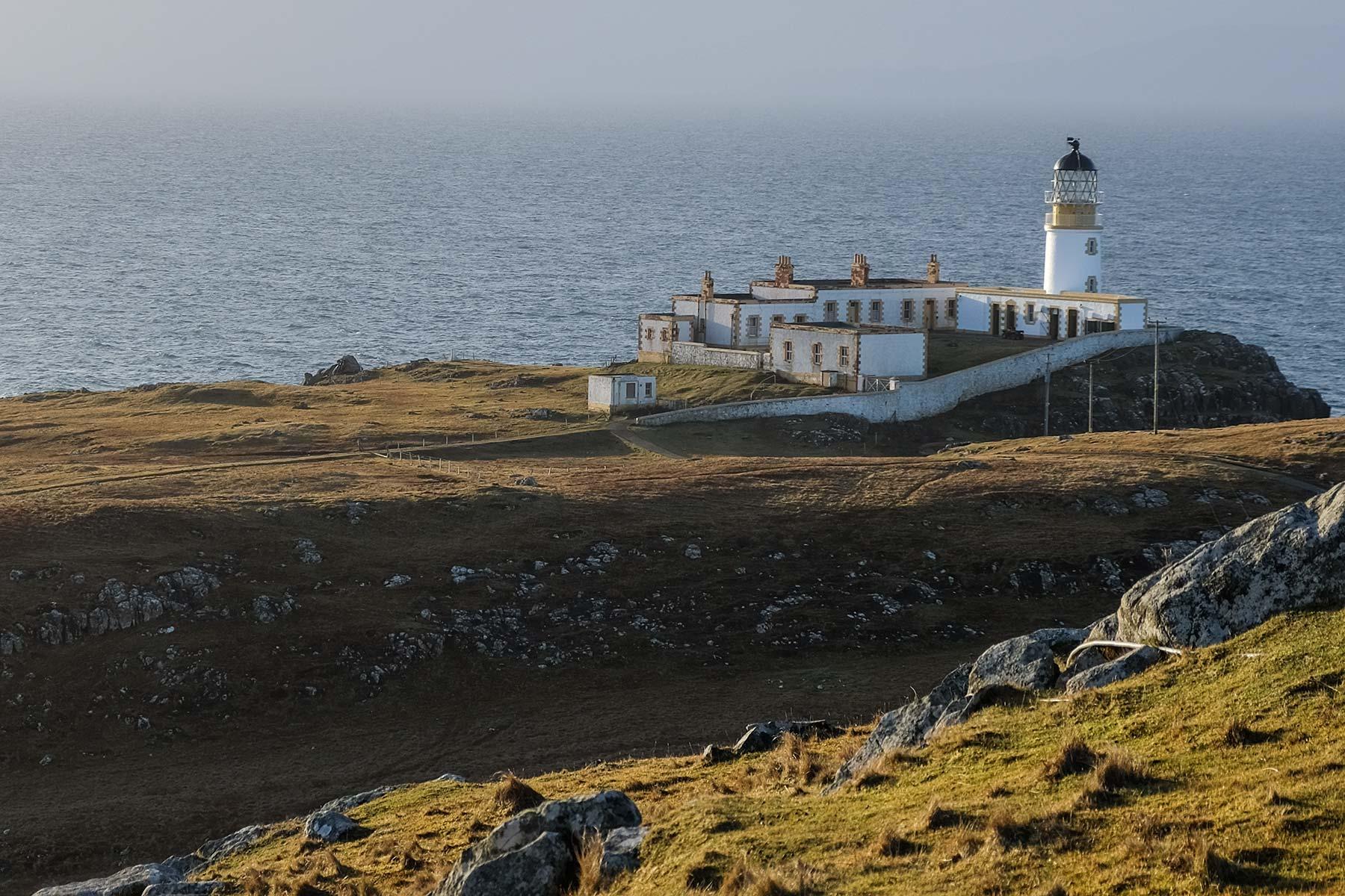 Neist Point Leuchtturm auf der Isle of Skye, Schottland