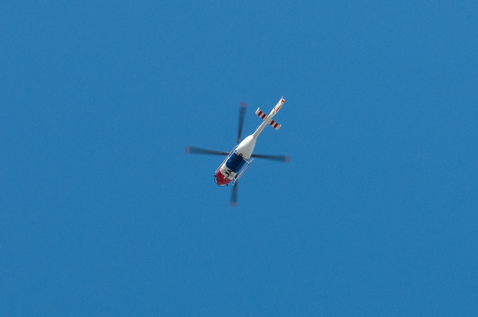 Helikopter in Roppongi Tokyo, Japan