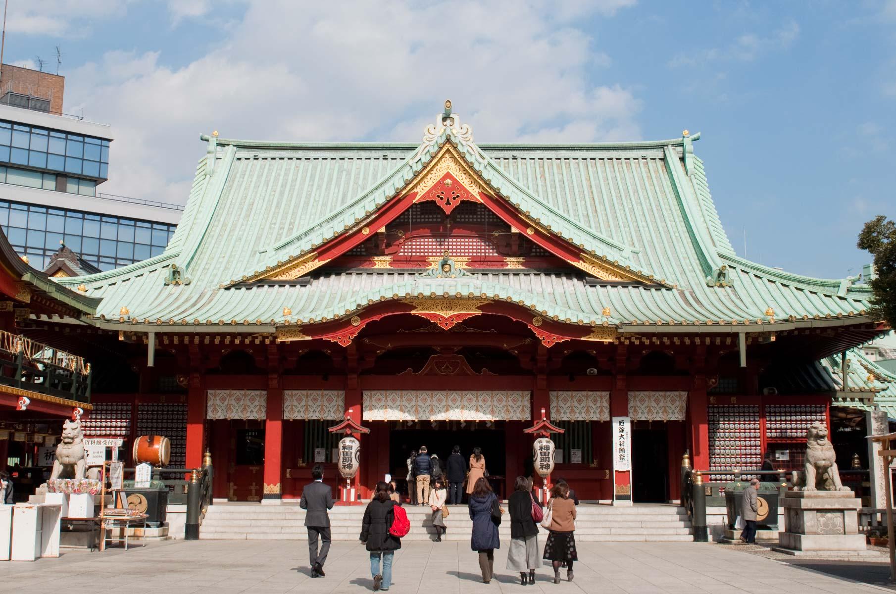 Kanda Myojin Tempel in Akihabara Tokyo, Japan