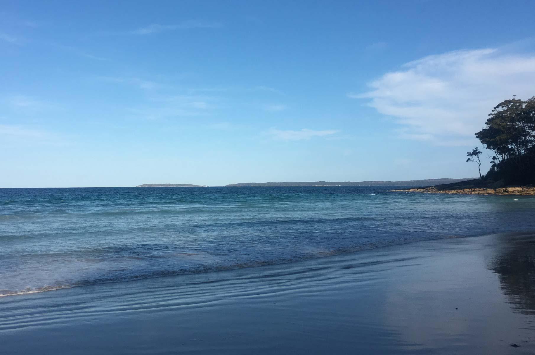 Blenheim Beach in der Jervis Bay in Australien