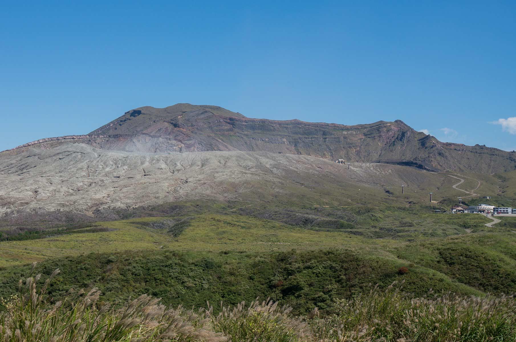 Blick auf den Mt. Aso, Japan