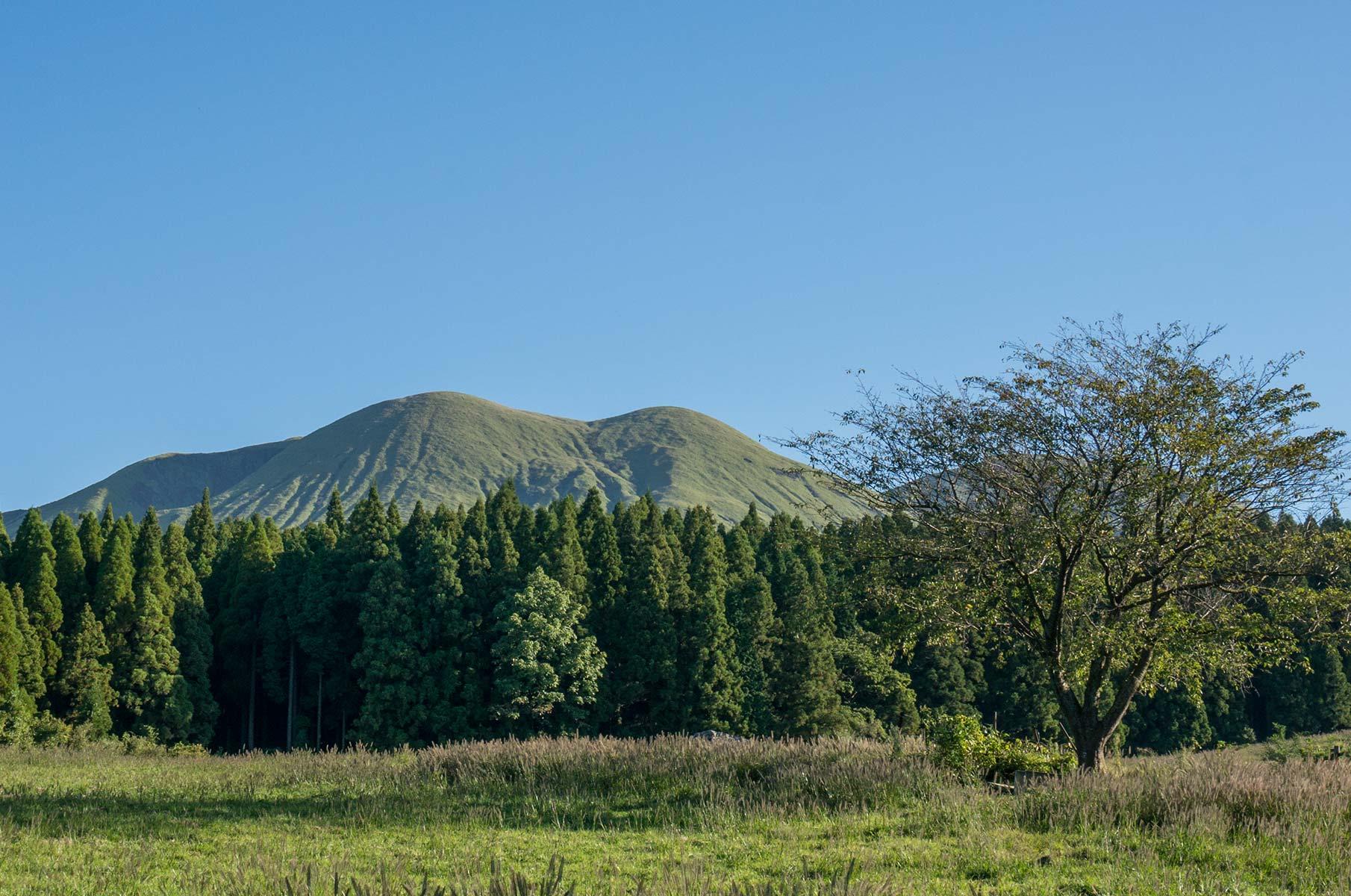 Mt. Aso Gras- und Vulkanlandschaft, Japan
