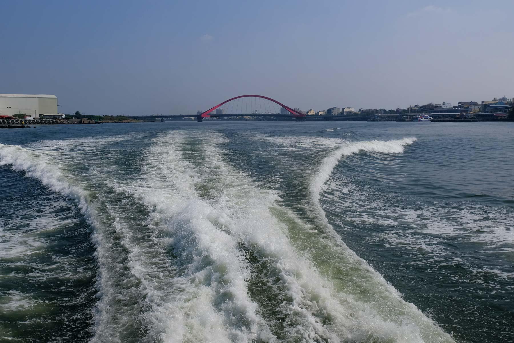 Von Donggang mit der Schnellfähre zur Xiaoliuqiu Insel