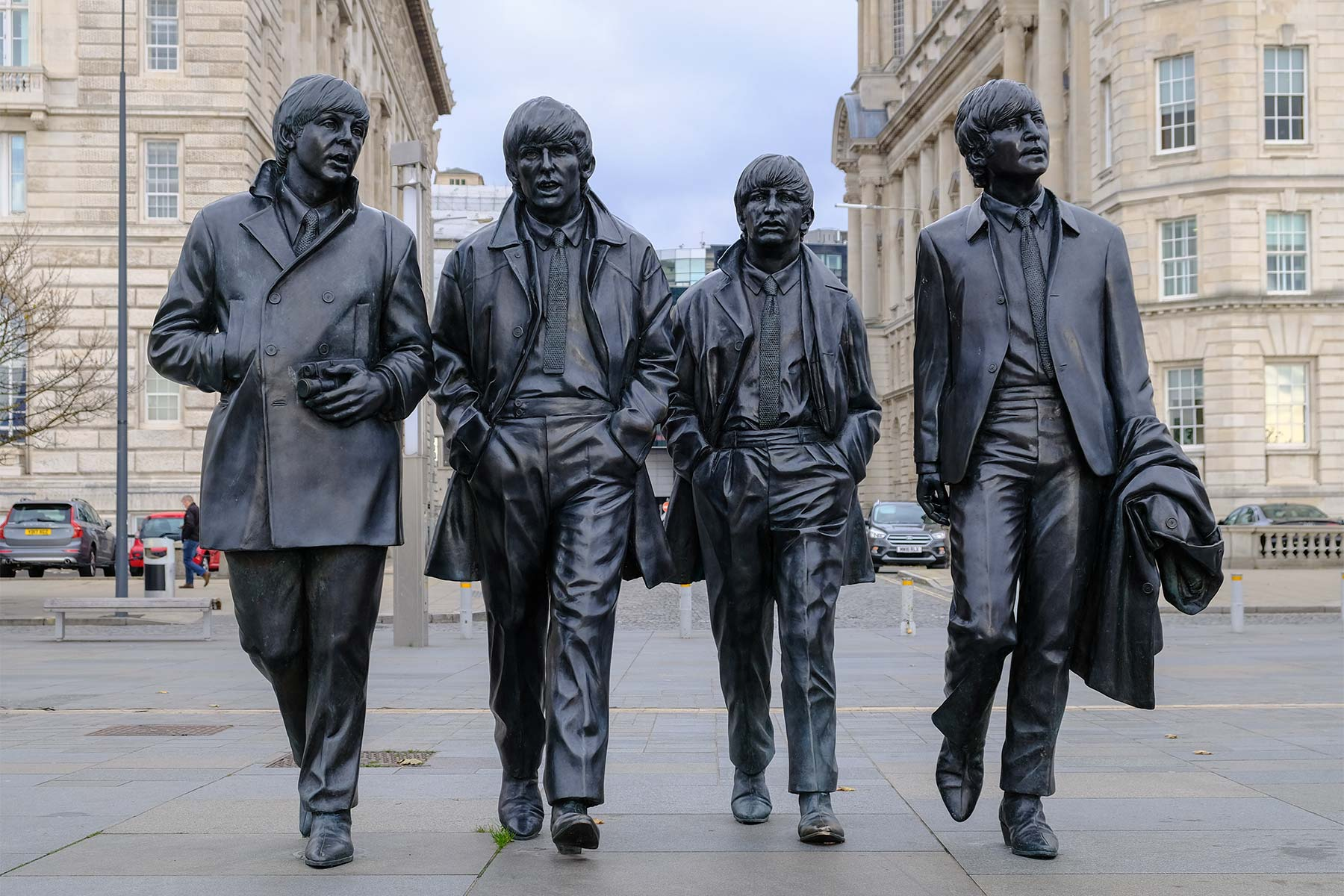 The Beatles Statue an der Liverpool Waterfront