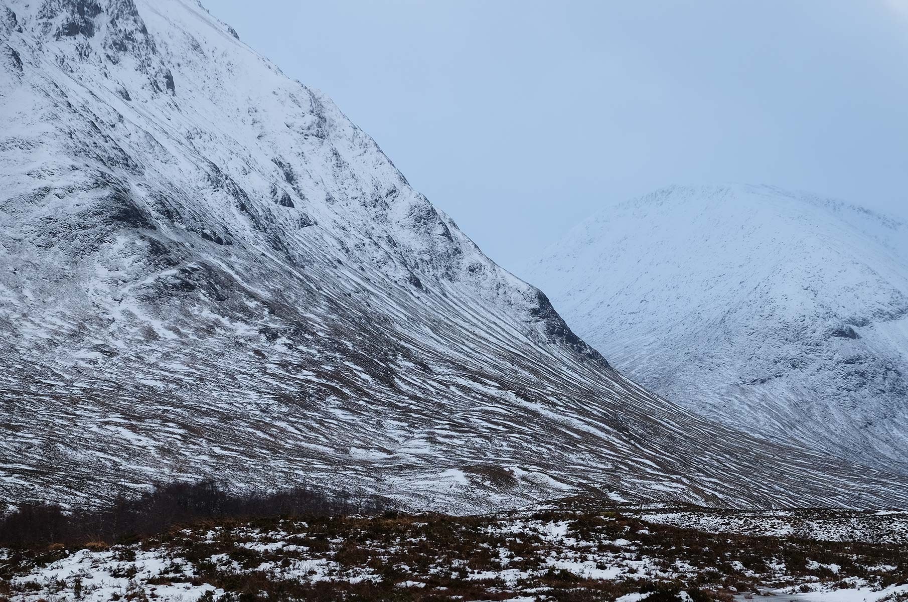 Highlands in Glencoe im Winter, Schottland