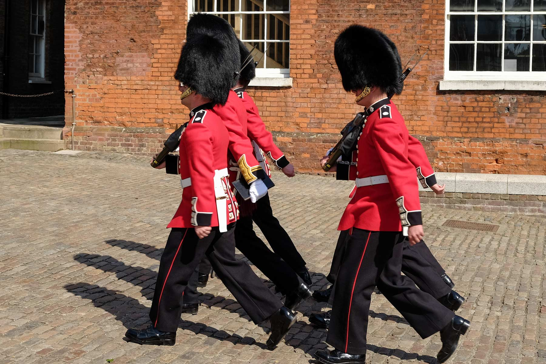 Queen's Guards im Tower of London in London, England