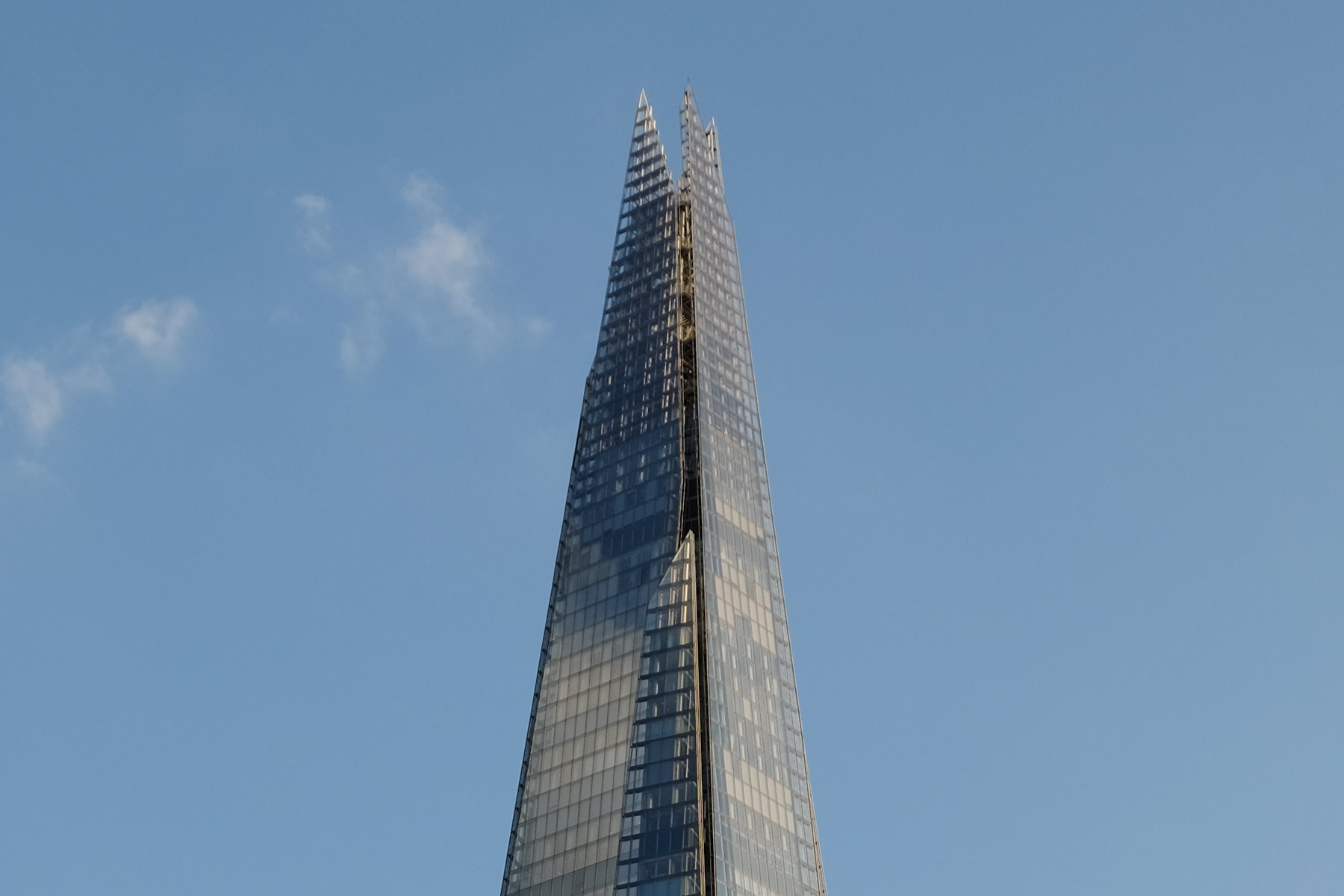 Außenansicht The Shard in London, England