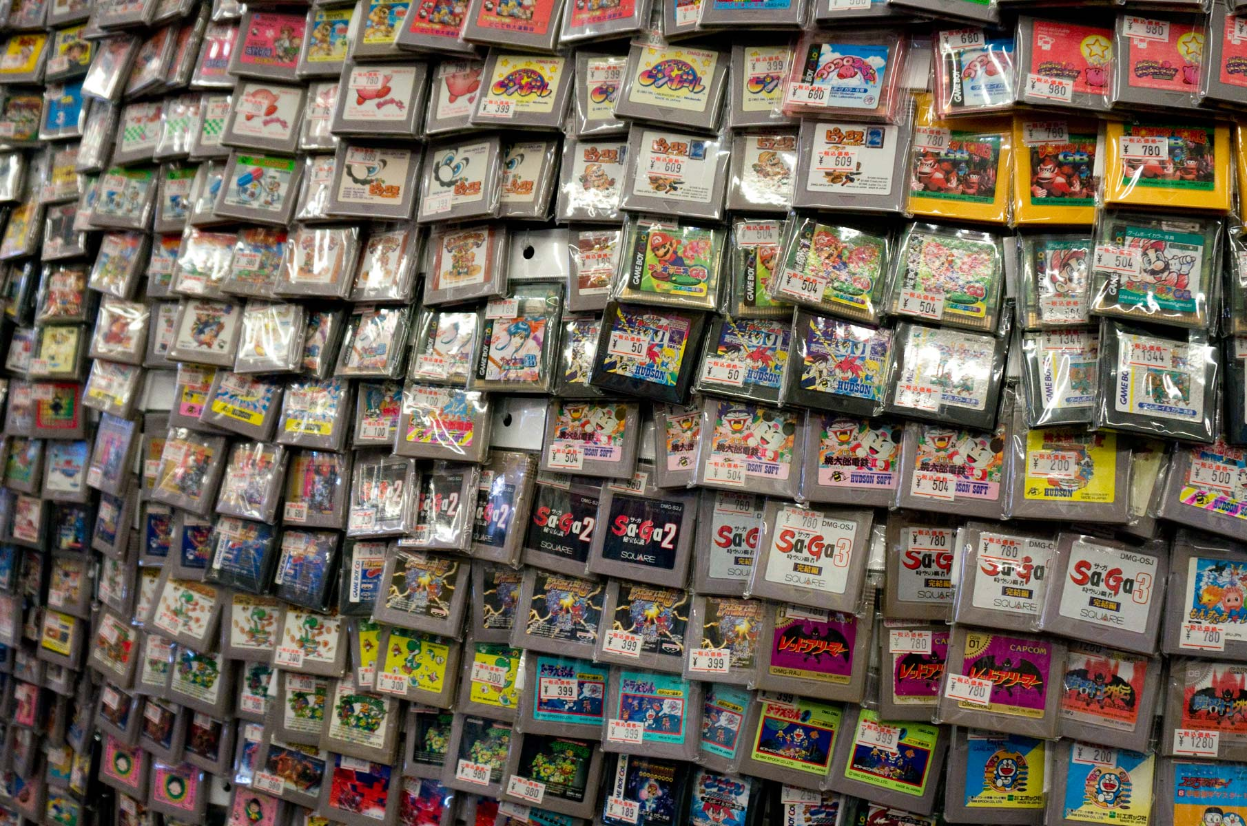 Videospiele im Amüsierviertel Nipponbashi in Osaka, Japan