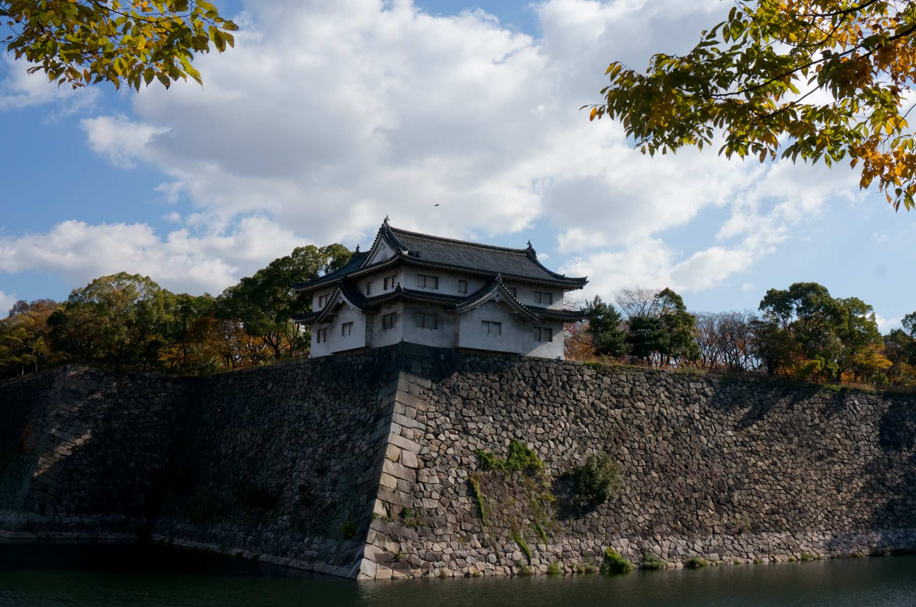 Burggraben der Burg Osaka, Japan