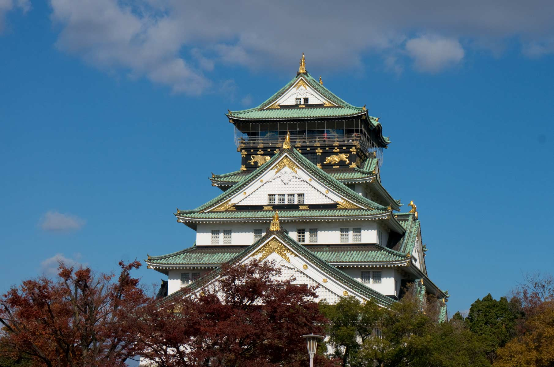 Burg Osaka (Osaka Castle) in Japan