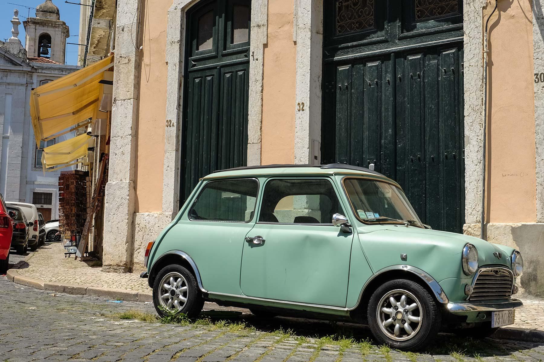 Mini Cooper in Lissabon, Portugal