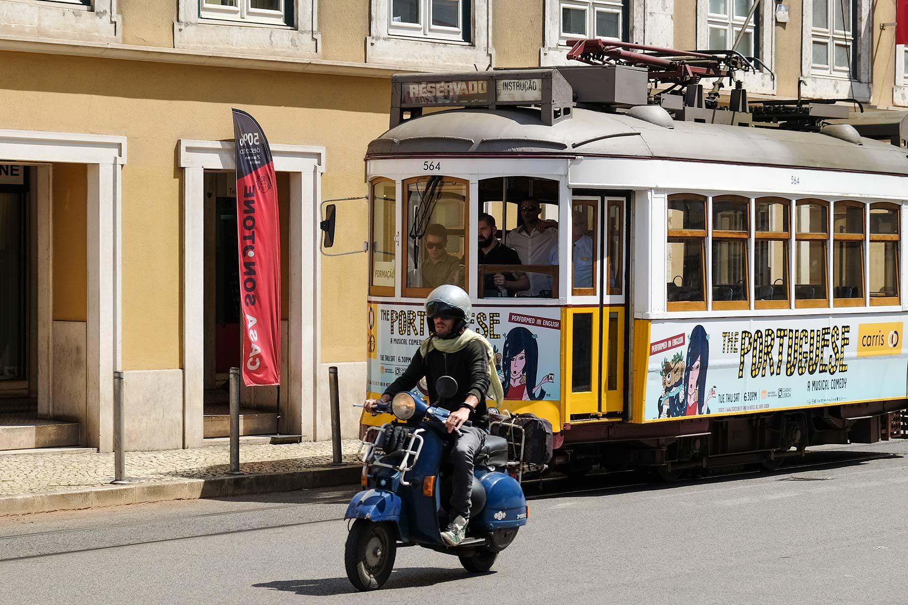 Historische Straßenbahn in Lissabon, Portugal
