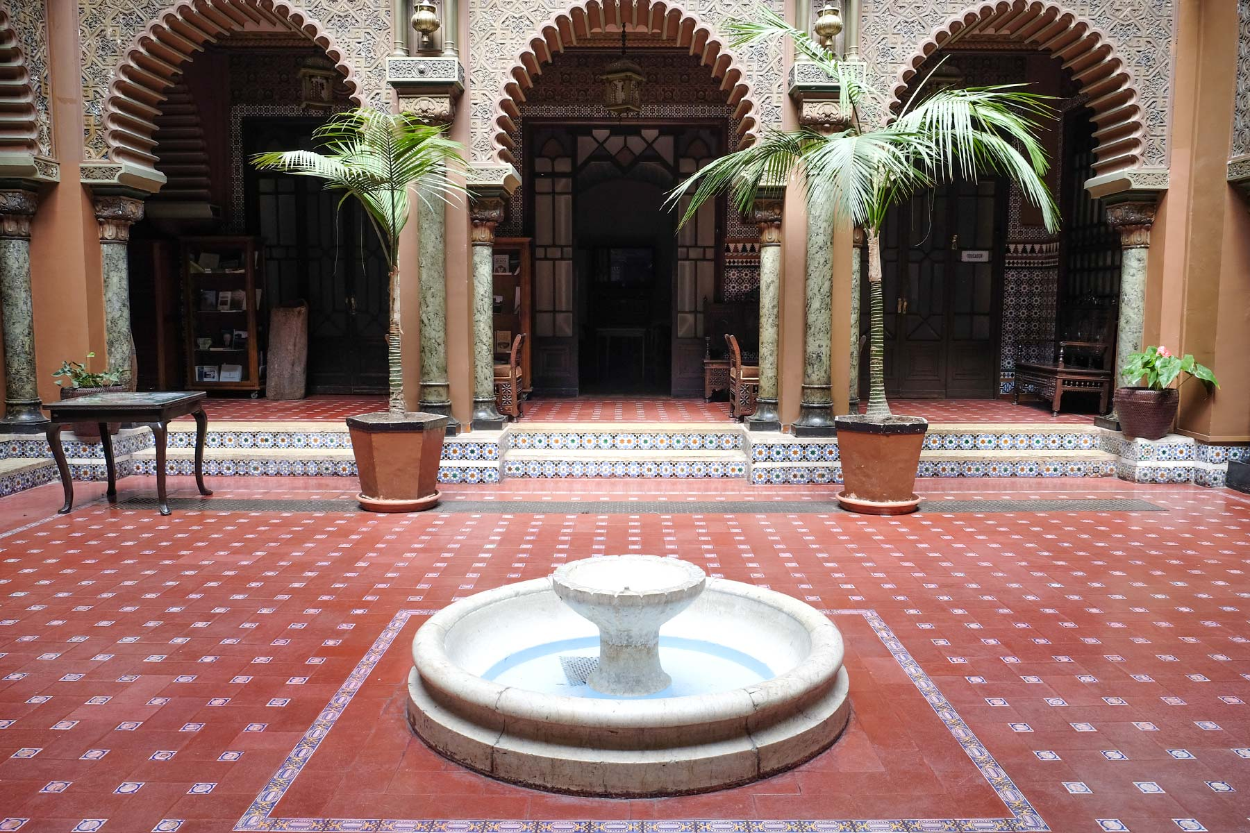 Innenhof des Casa do Alentejo in Lissabon, Portugal