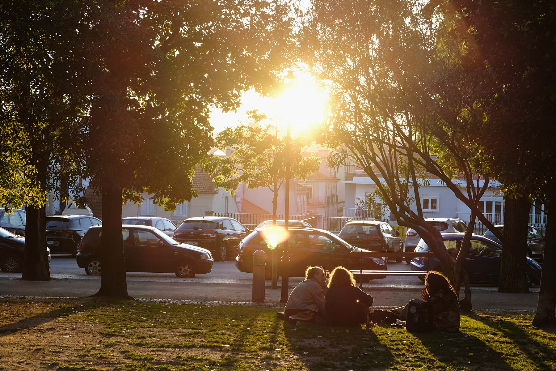 Sonnenuntergang in Lissabon, Portugal