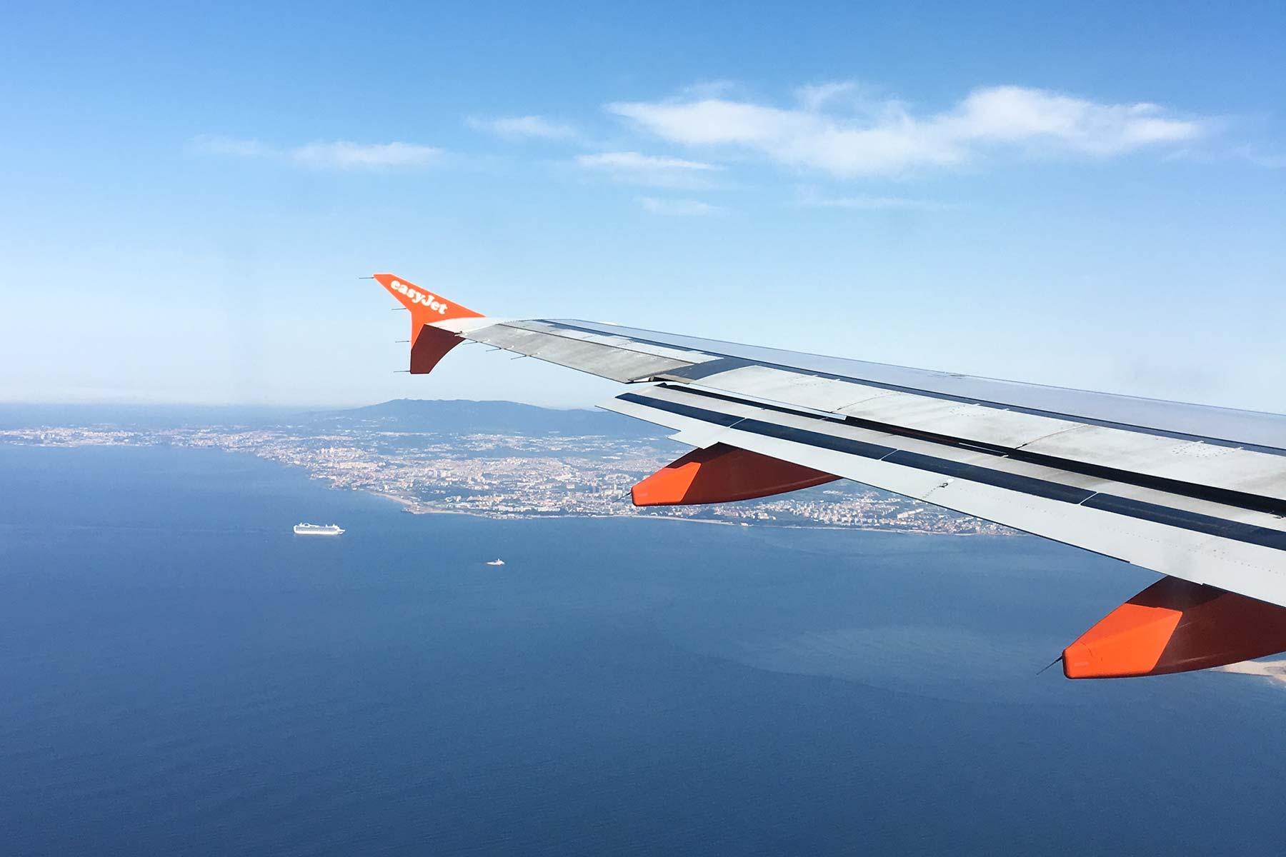 Easyjet Ladeanflug auf Lissabon, Portugal