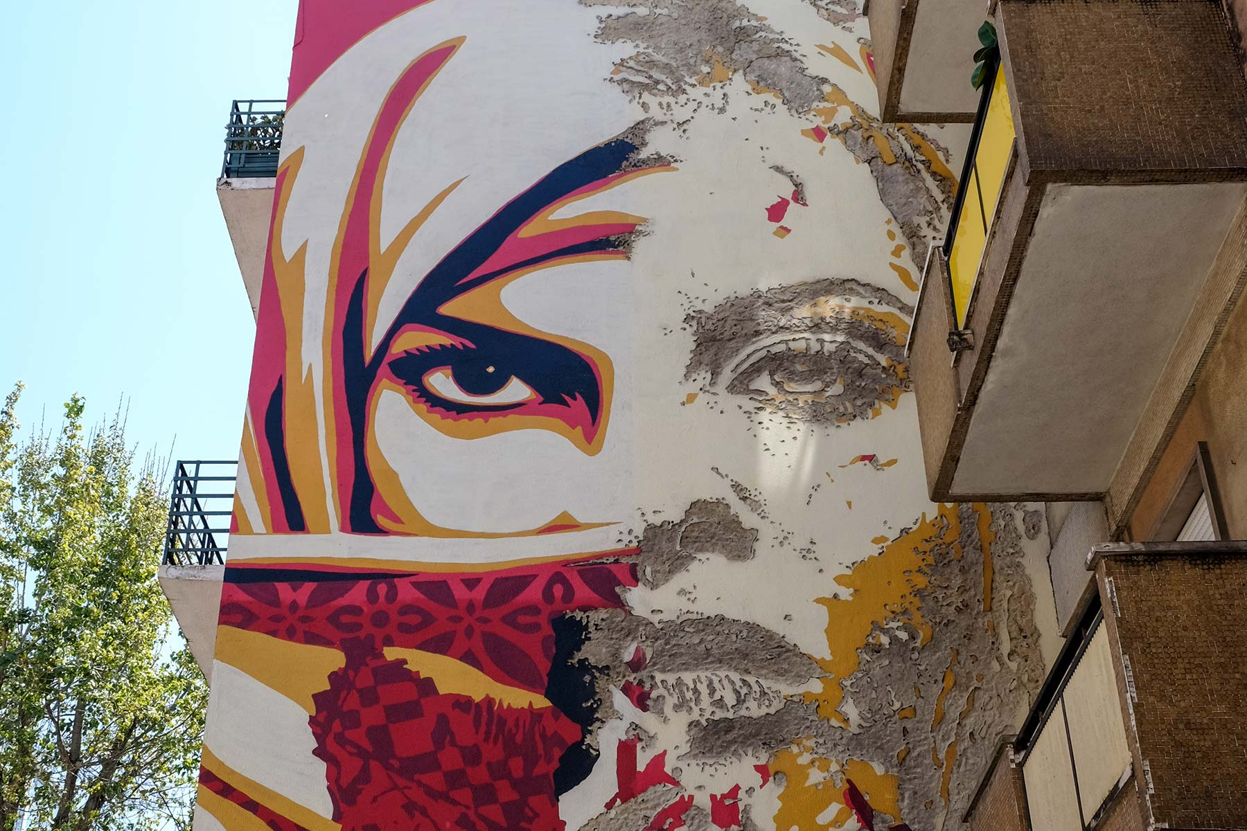 Vhils in Lissabon, Portugal