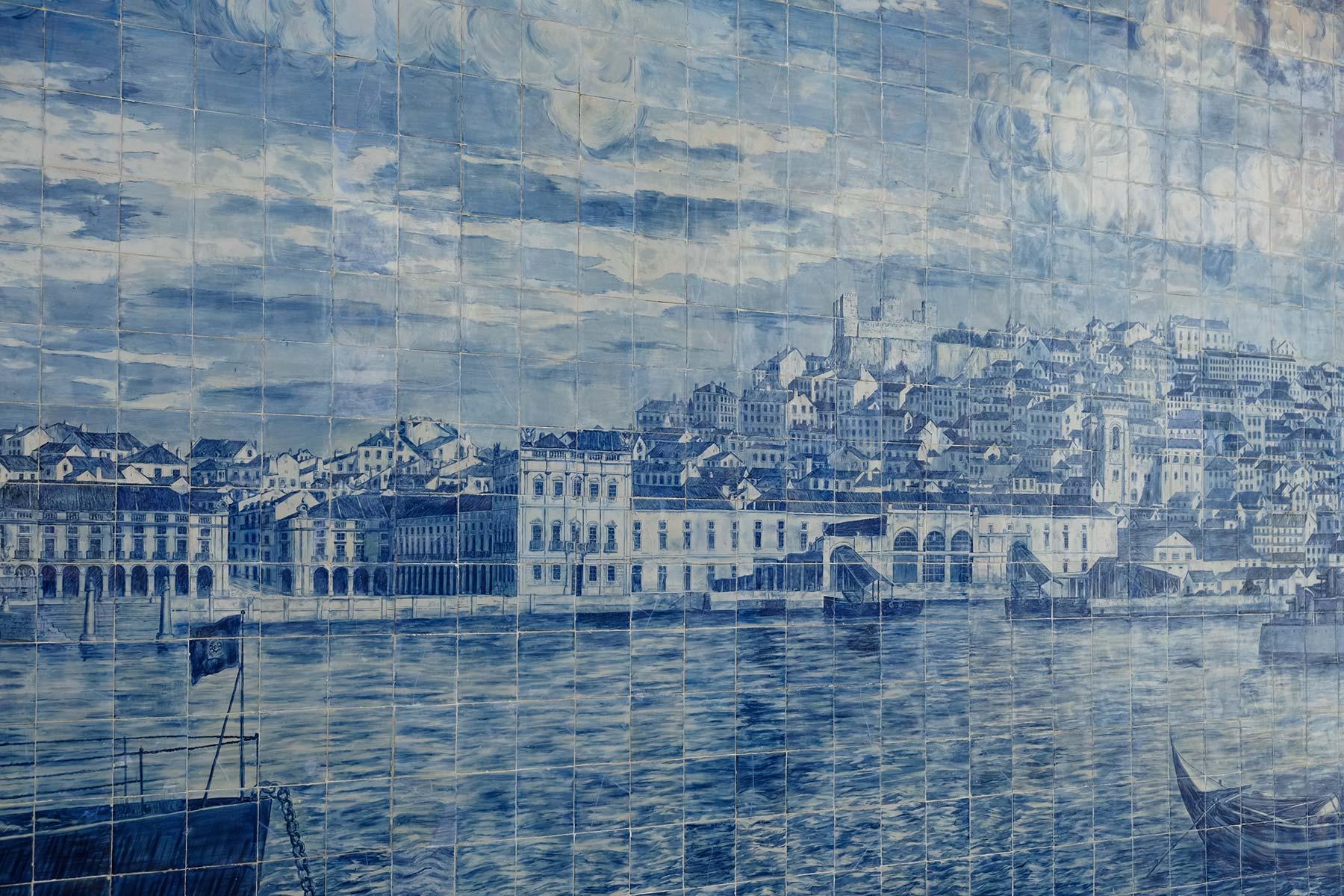Azulejo Kachelkunst in Lissabon, Portugal