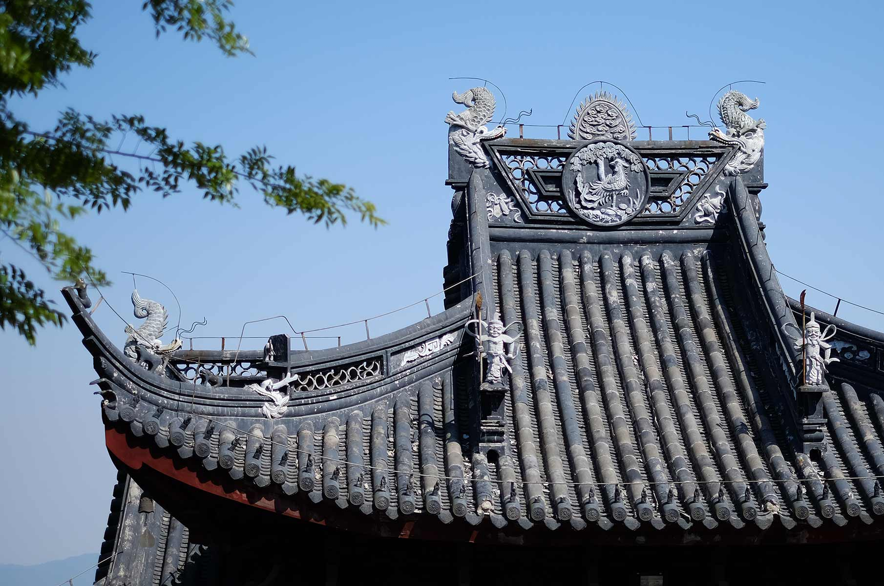 Ningbang Tempel in der Qionglong Bergregion südwestlich von Suzhou