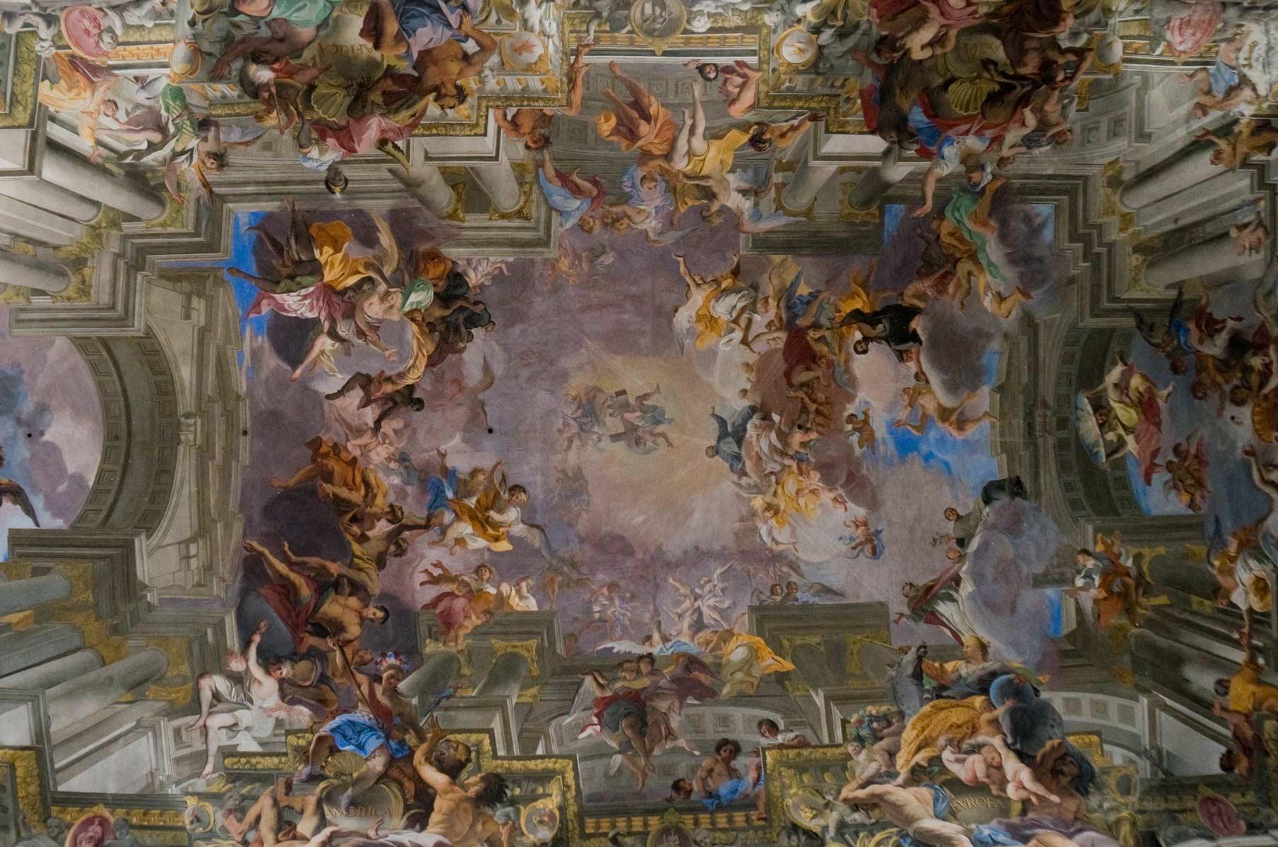 Deckenmalerei in der Kirche Sant'Ignazio di Loyola in Campo Marzio in Rom, Italien