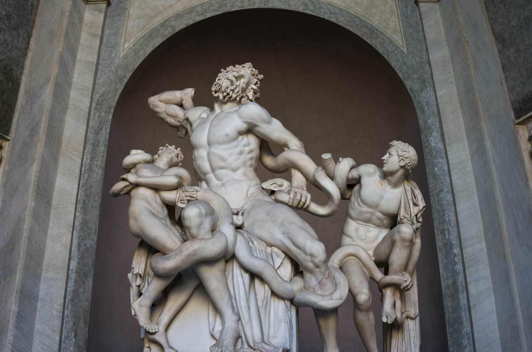 Apollo Statue im Vatikanischen Museum in Rom, Italien