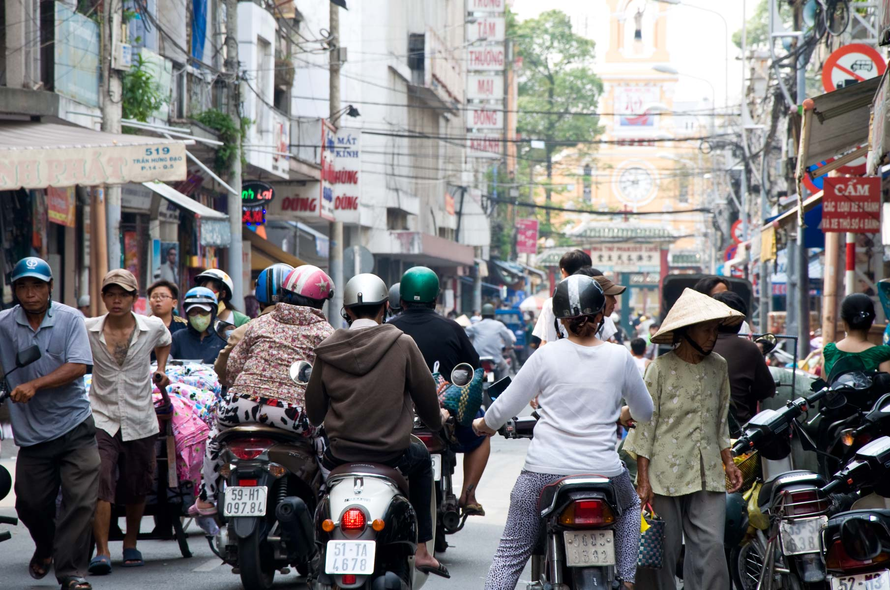 Rollern/Mopeds in Saigon (Ho-Chi-Minh Stadt), Vietnam
