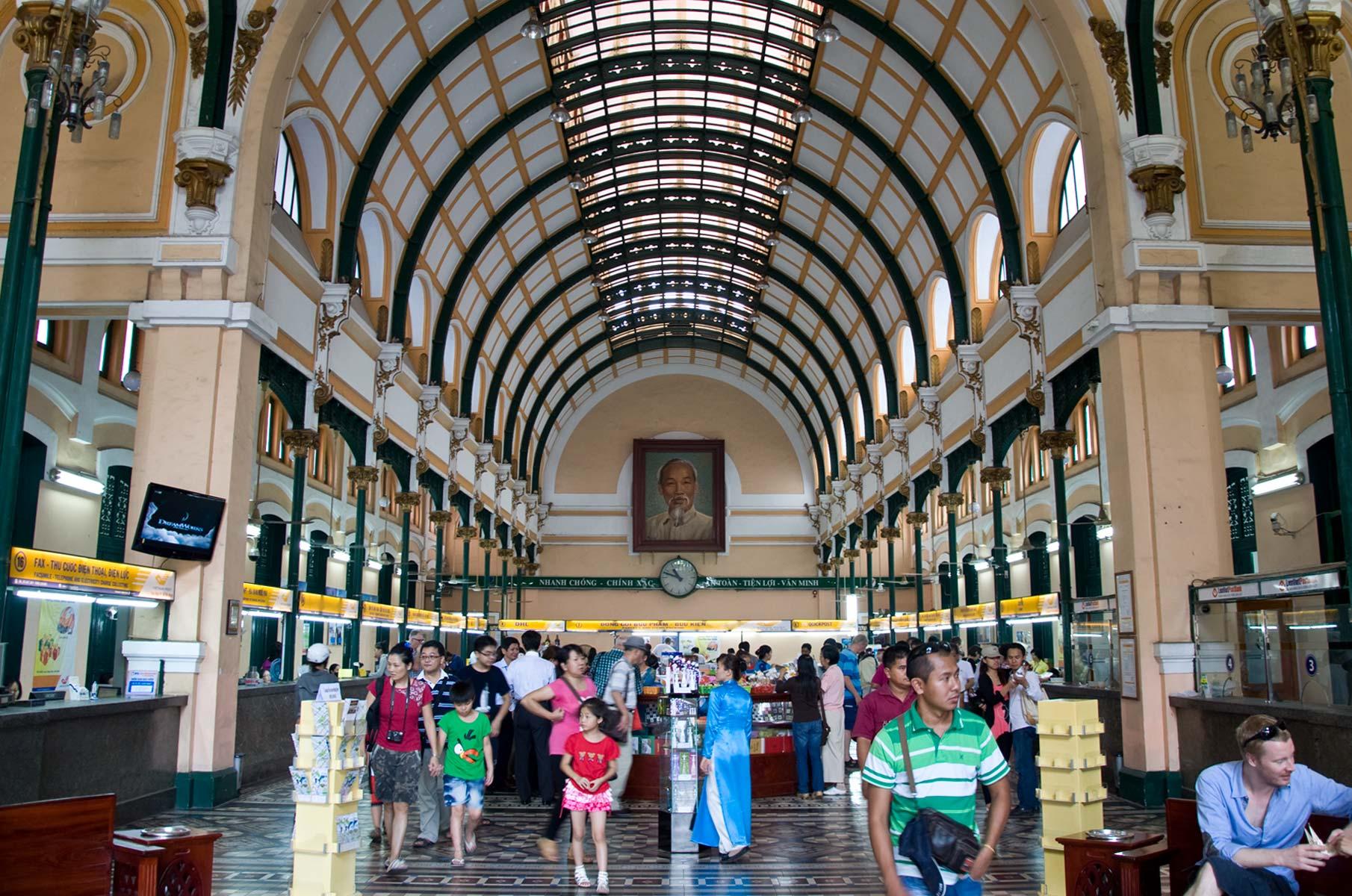Hauptpostamt in Saigon (Ho-Chi-Minh Stadt), Vietnam