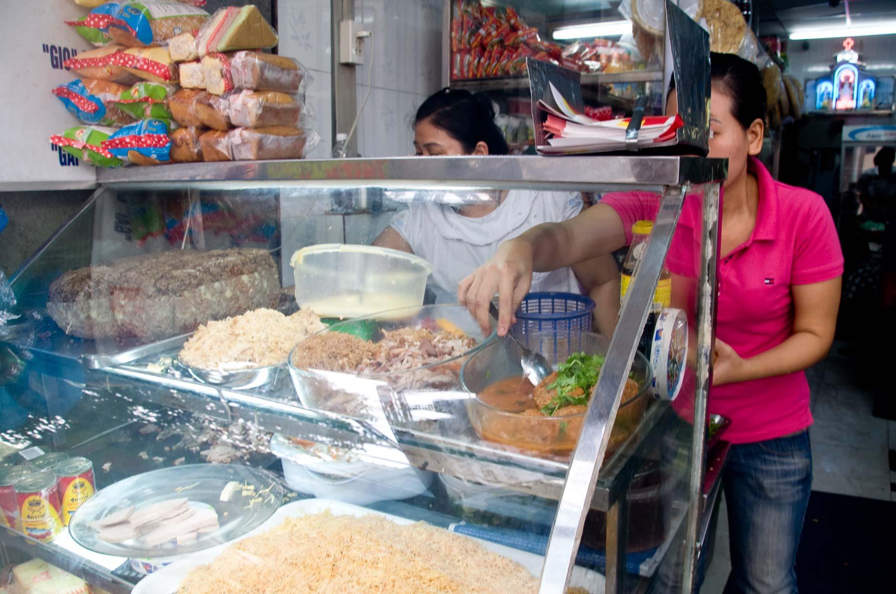Französisches Baguette in Saigon (Ho-Chi-Minh Stadt), Vietnam