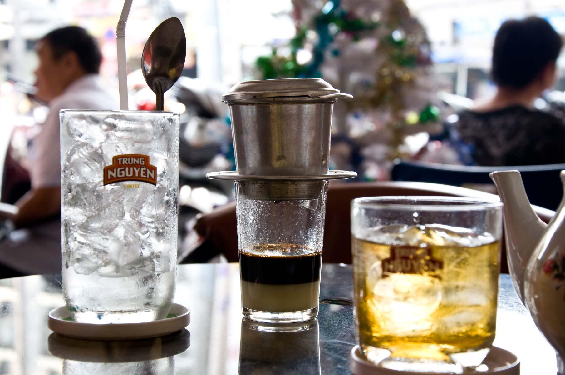Trung Nguyen Kaffee in Saigon (Ho-Chi-Minh Stadt), Vietnam