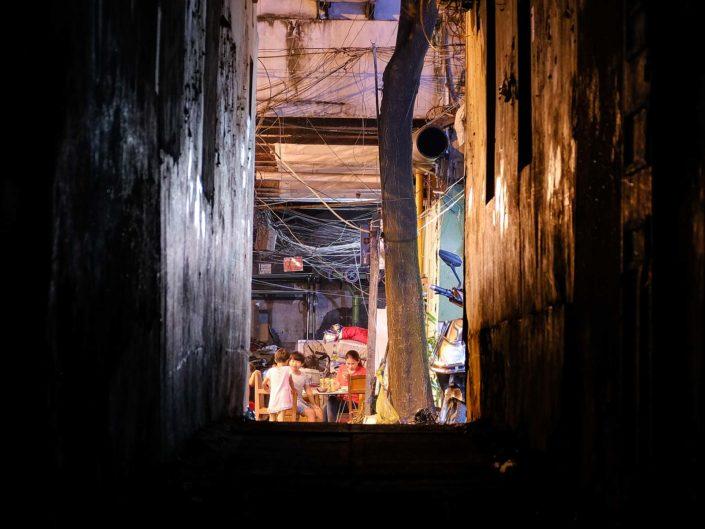 Shanghai Altstadt nach Mitternacht