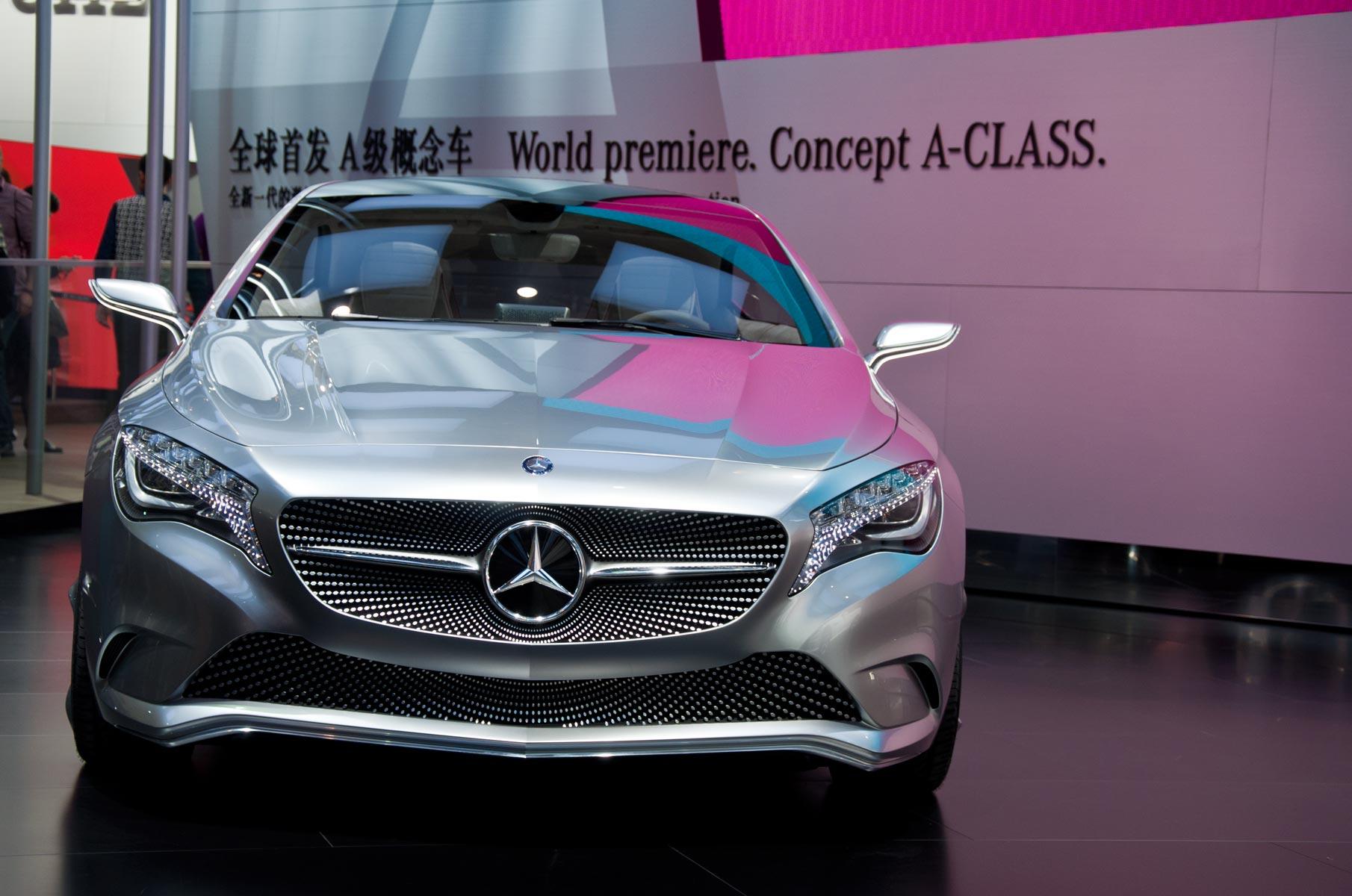 Mercedes-Benz A Klasse Konzeptwagen auf der Auto Shanghai 2011 in China