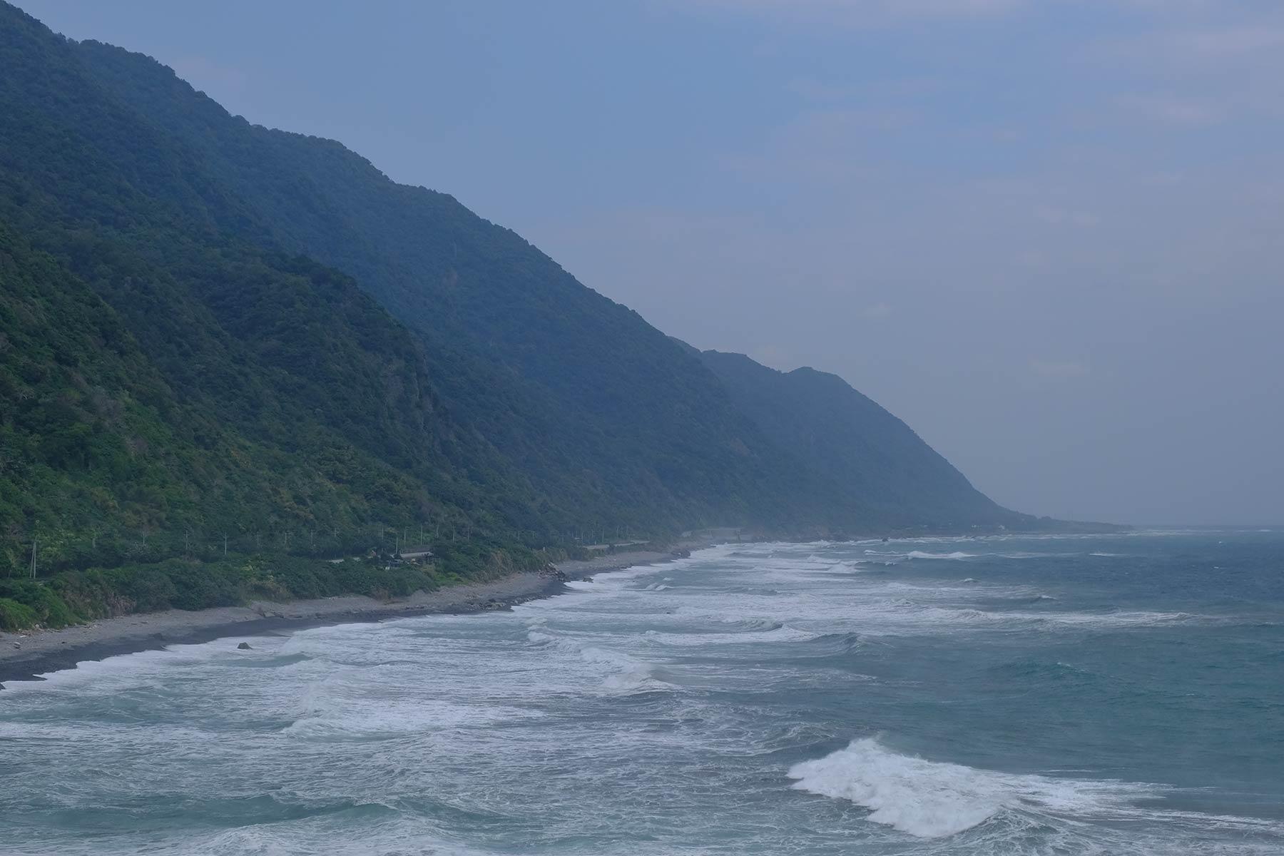 Ostküste von Taiwan bei starkem Wind