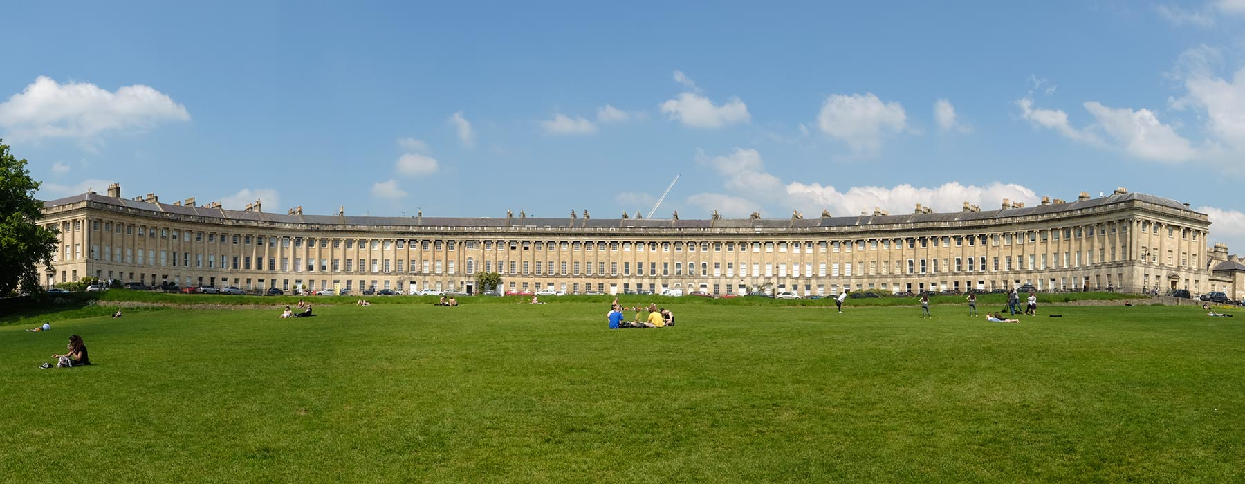 Blick auf Royal Crescent in Bath, Somerset
