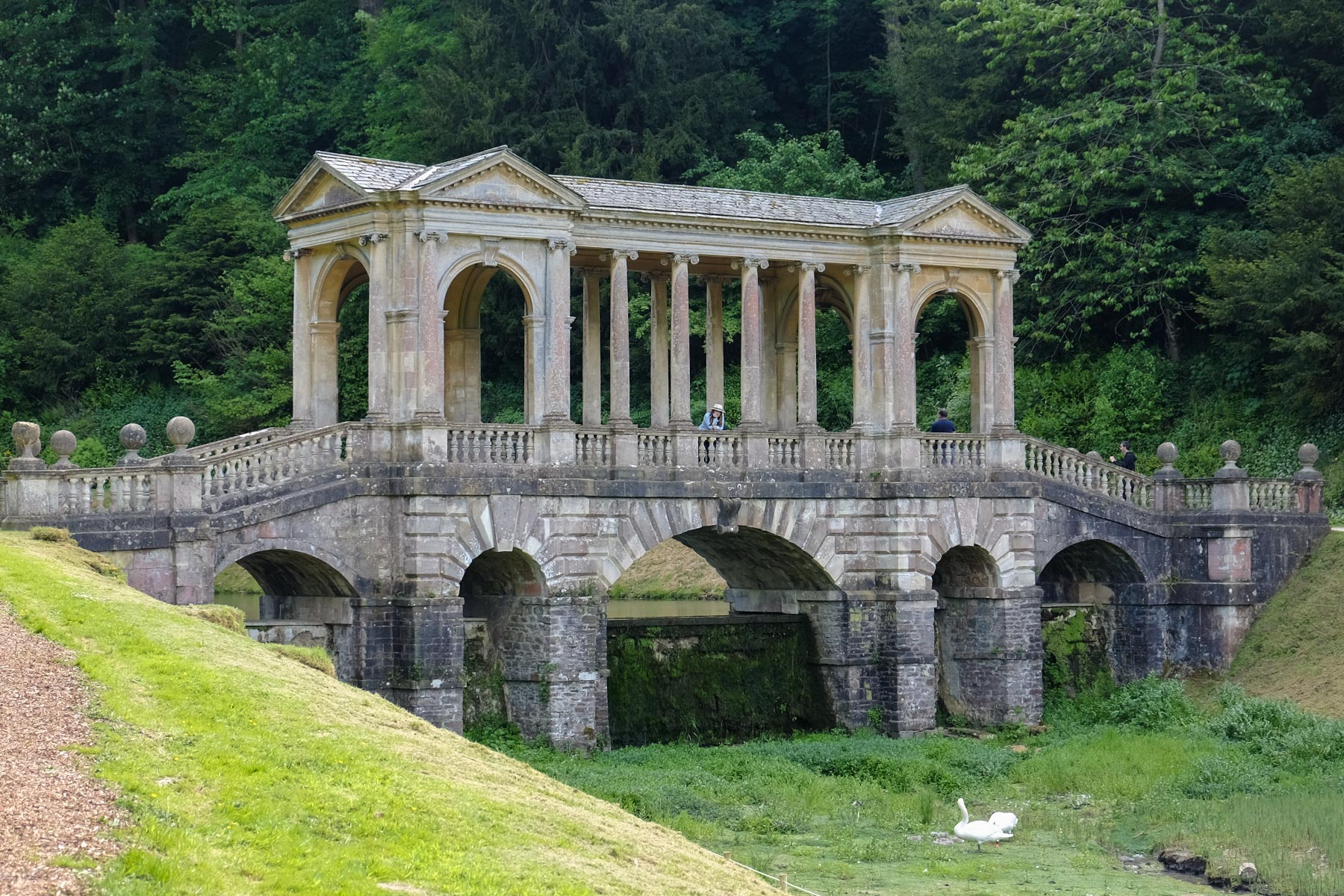 Palladian Brücke im Prior Park in Bath, Somerset