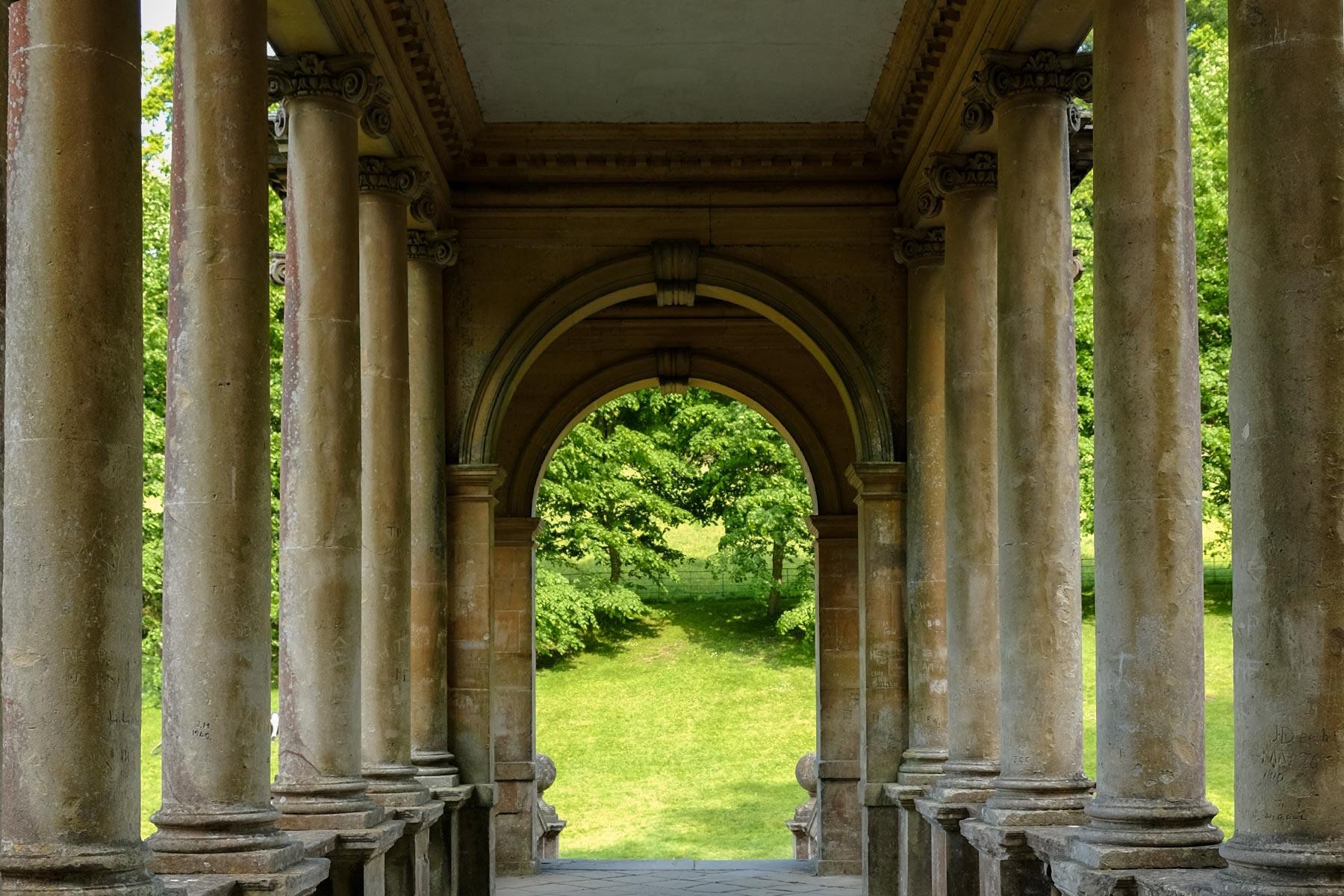 Palladian Brücke im Prior Park in Bath, Somerset