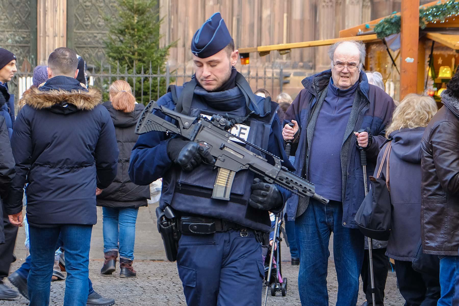 Sicherheitsbeamte in Straßburg