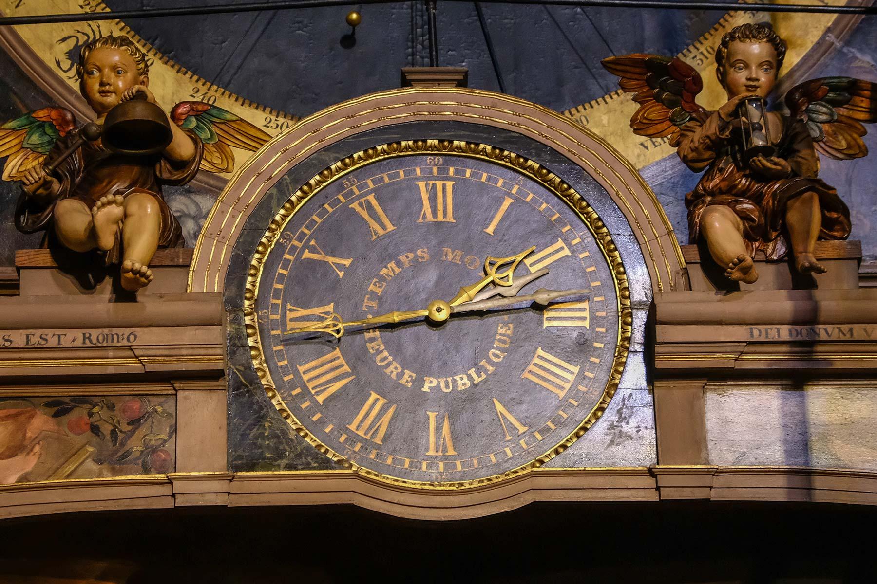 Astronomische Uhr im Straßburger Münster in Straßburg