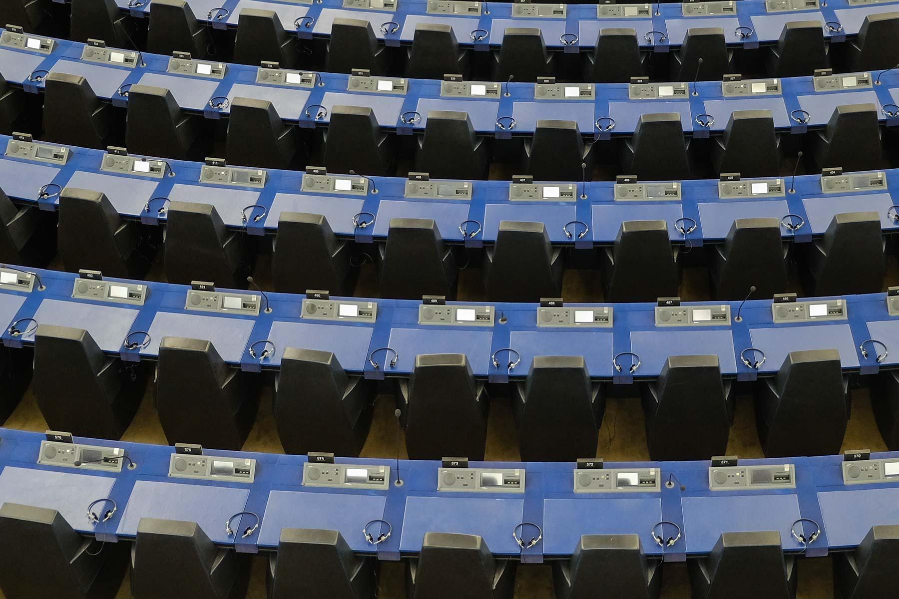 Plenarsaal im Europäischen Parlament in Straßburg