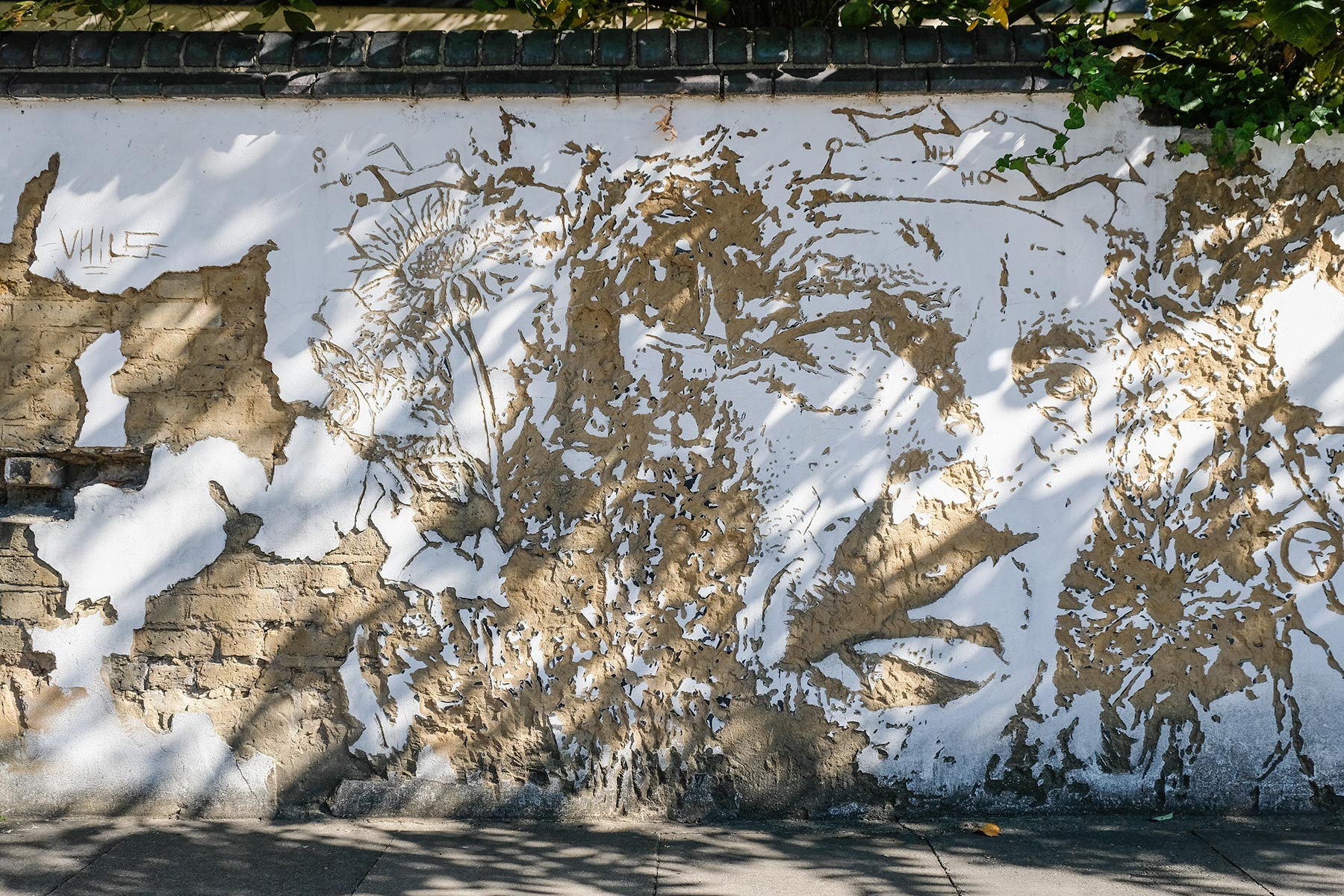Street Art London - Vhils 'Phytology Project' - Clarkson Street, Poplar