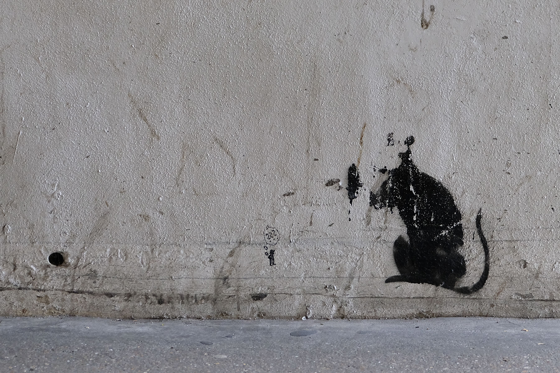 Street Art London - Banksy 'Rat' - Tooley Street beneath London Bridge, London