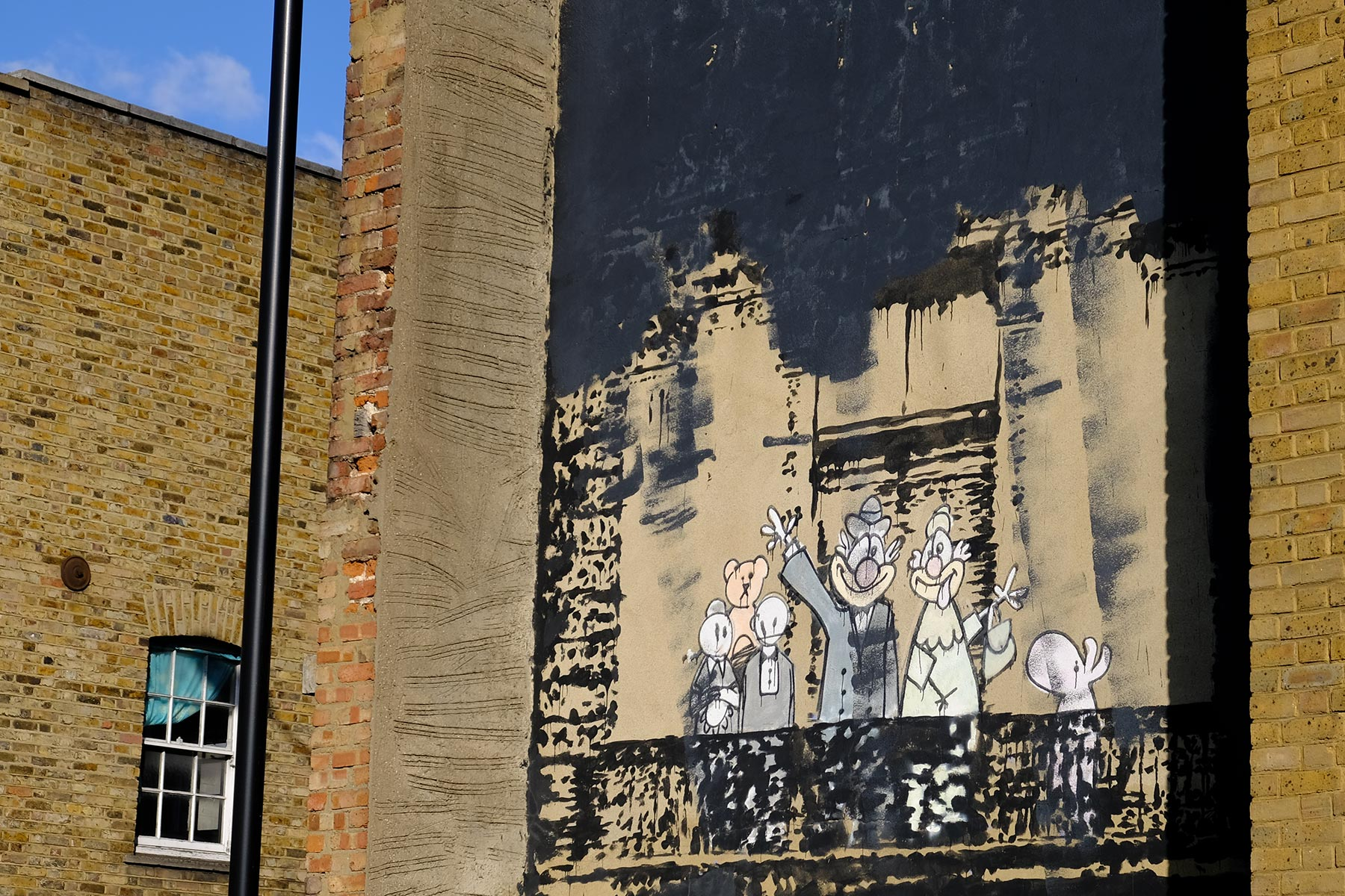 Street Art London - Banksy 'Royal family' - Stoke Newington Church Street, London