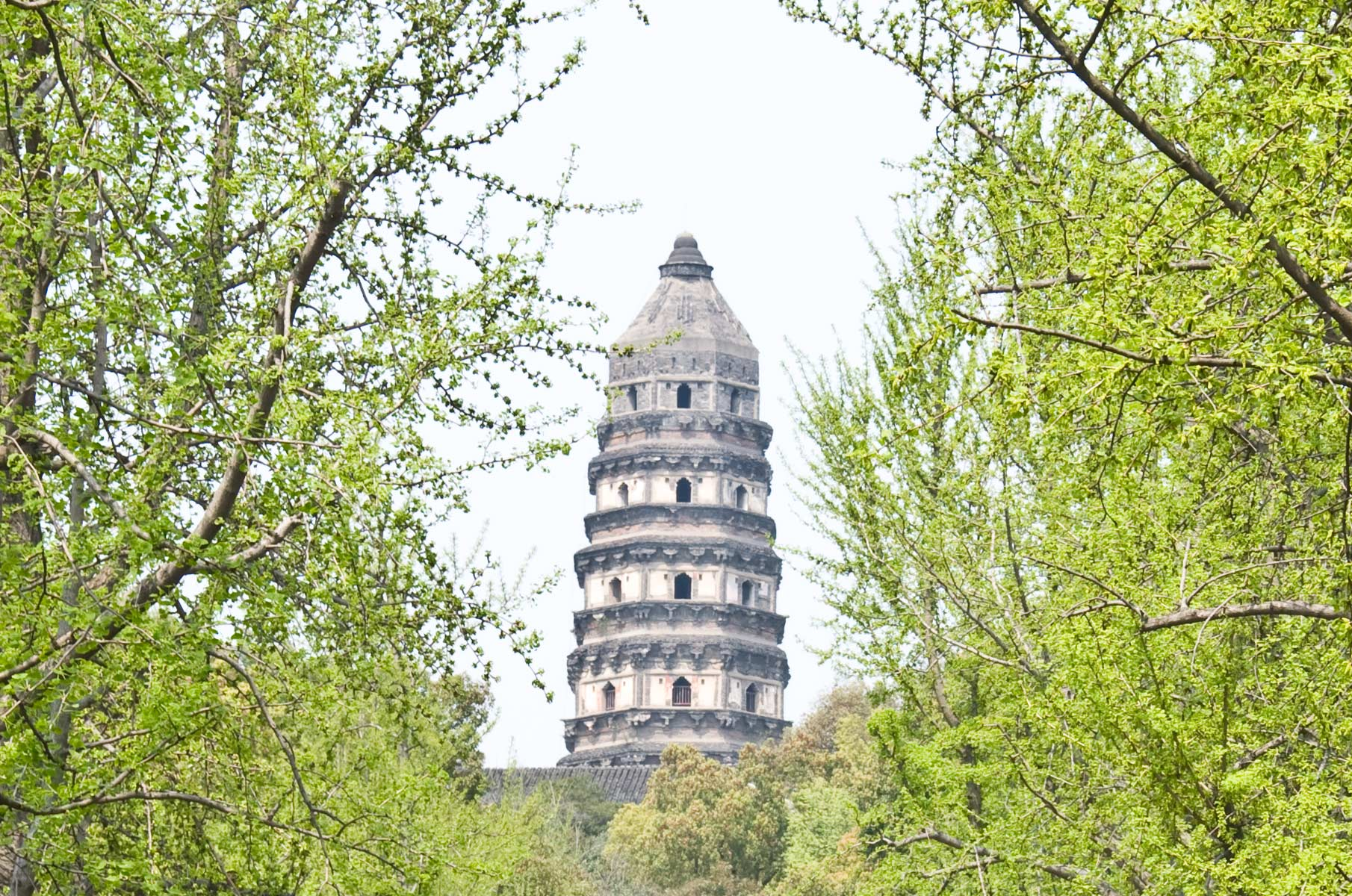 Pagode des Yunyan-Tempels im Tiger Hill in Suzhou, China